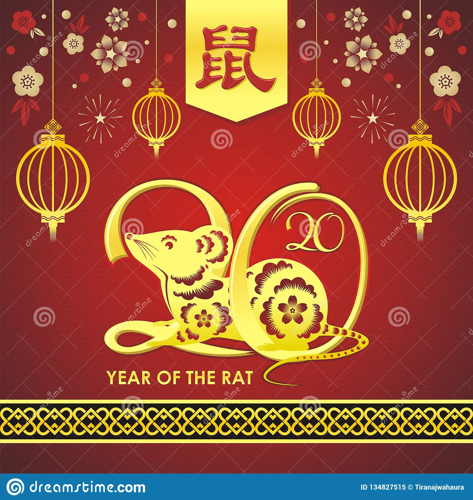 8557fbfbe Year of the Rat, chinese new year 2020 / 2032 / 2044 vector design, with  simple design, but has a deep meaning, about the tradition and zodiac of  rats. gold ...