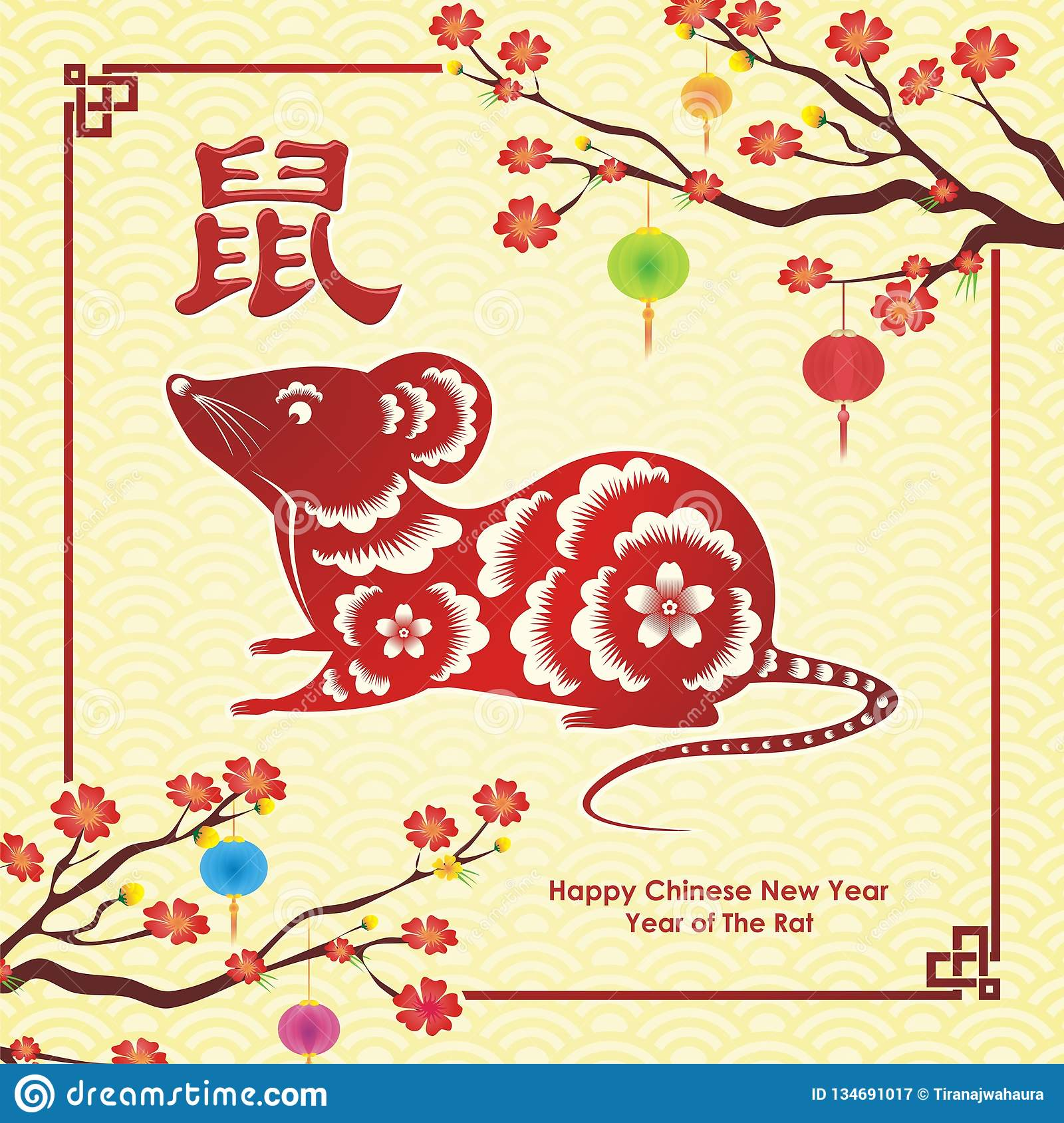 Year of the Rat, chinese new year vector design