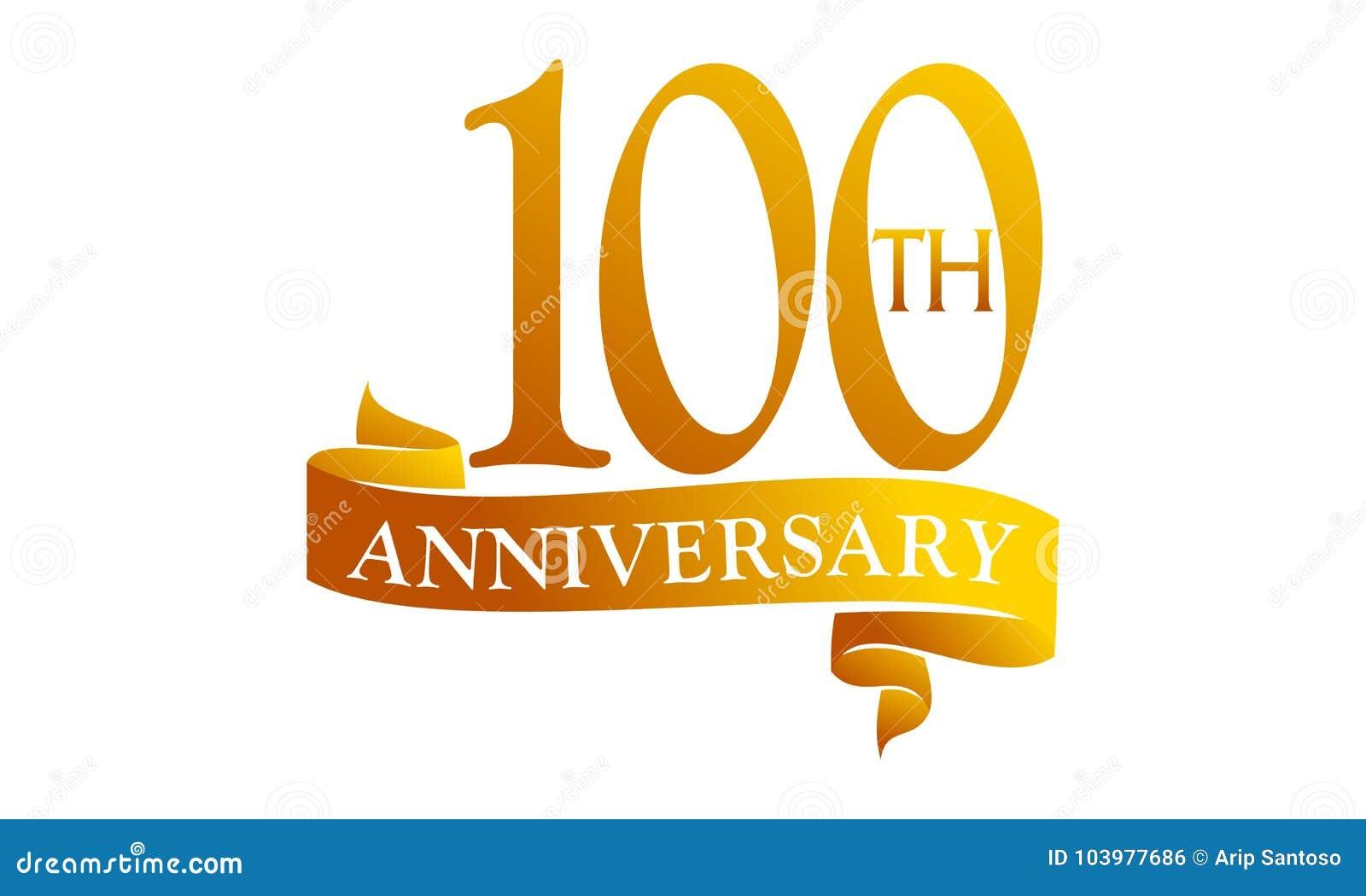 100 year ribbon anniversary stock vector illustration of modern