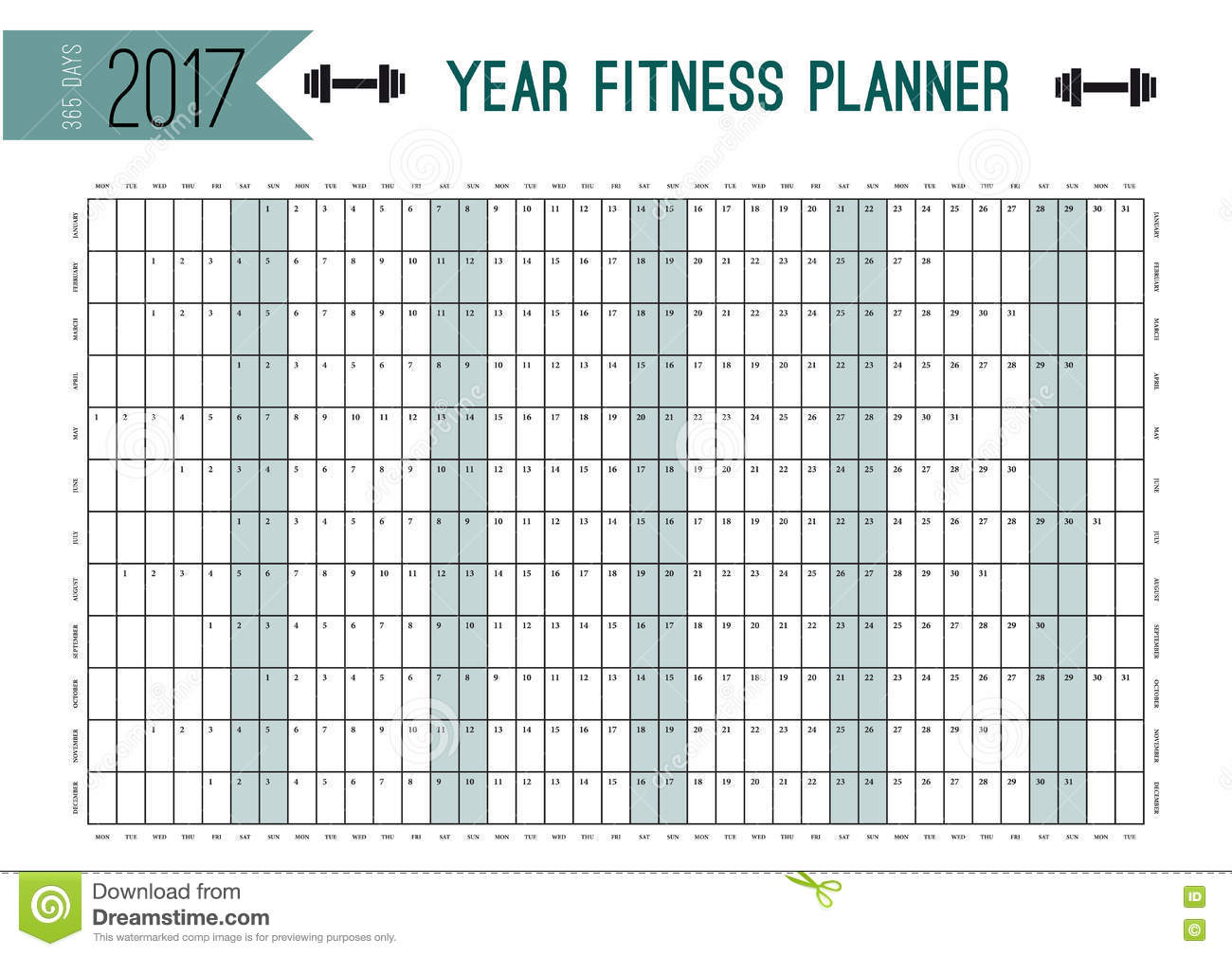 Year wall planner template plan out your whole fitness for Time design planner