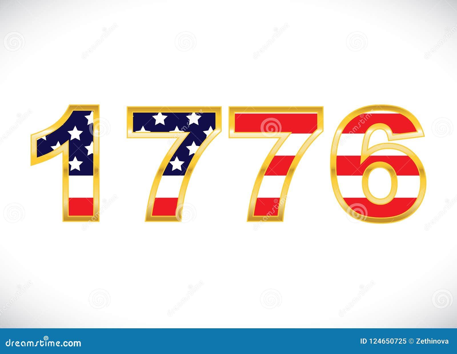 The Year 1776 stock illustration  Illustration of american