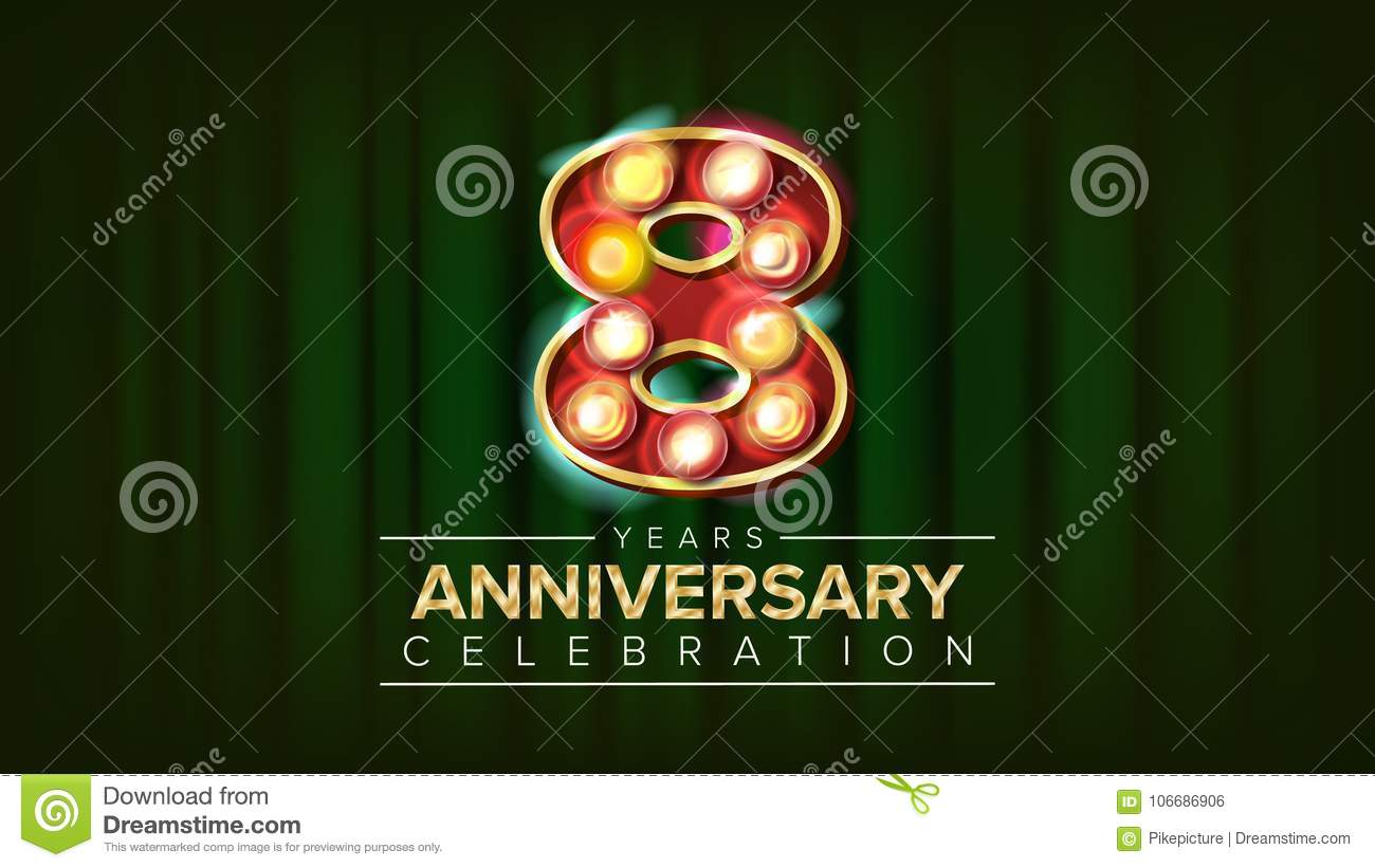 Years anniversary banner vector three third celebration vintage