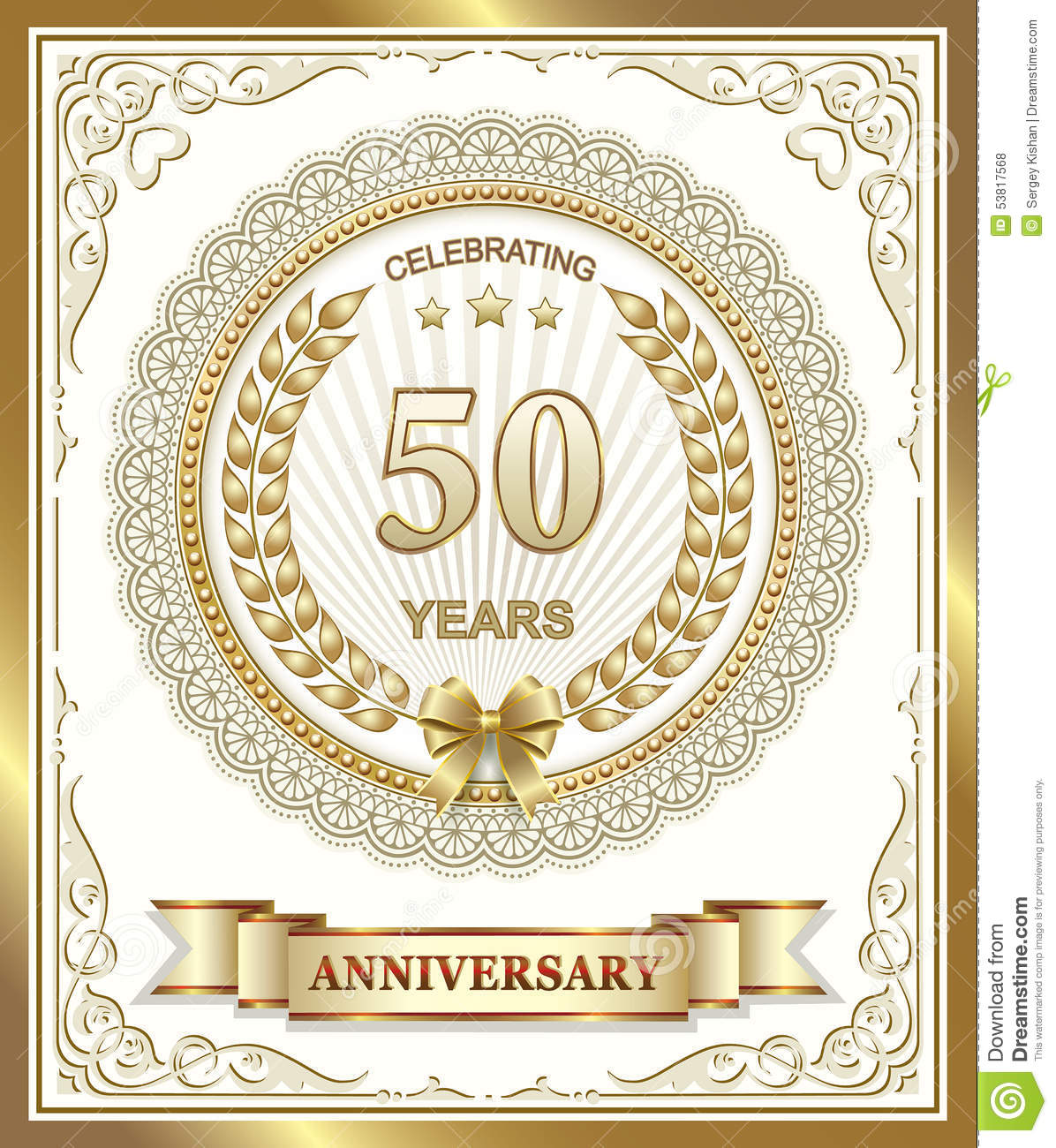 50 years anniversary stock vector image 53817568