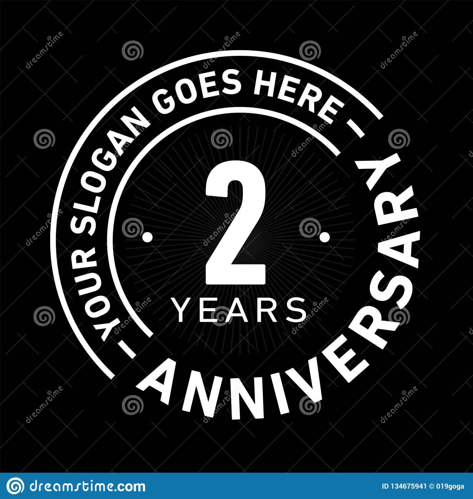 2 Years Anniversary Celebration Design Template Anniversary Vector And Illustration Two Year Logo Stock Vector Illustration Of Icon Logo 134675941