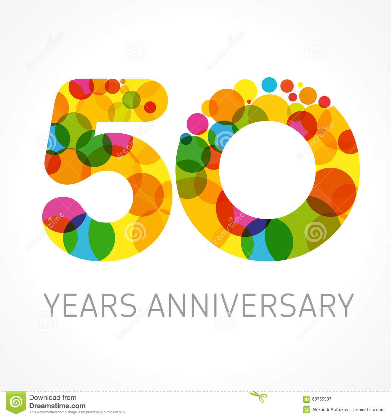 Years Anniversary Circle Colored Logo Template Th Form Color Bubble Vector Year