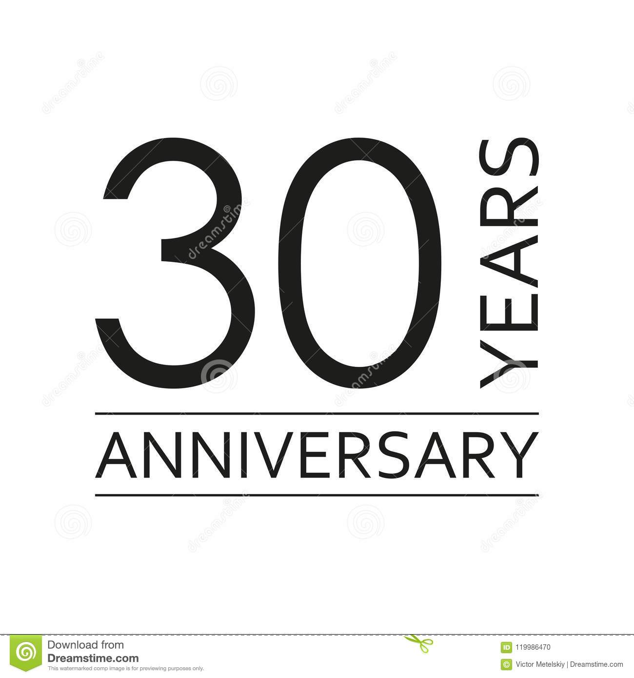 30 years anniversary emblem anniversary icon or label 30 years