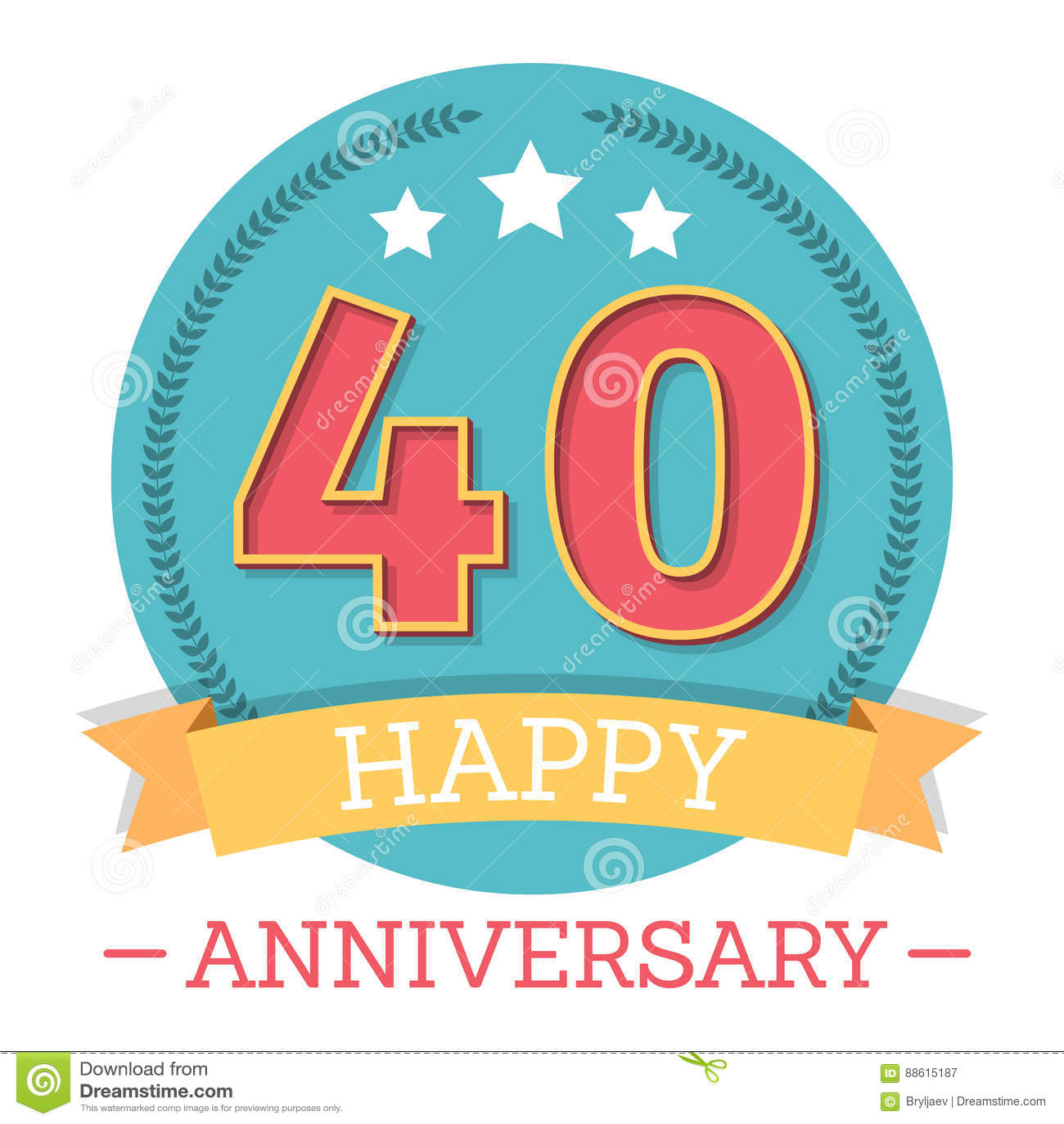 40 Years Anniversary Emblem