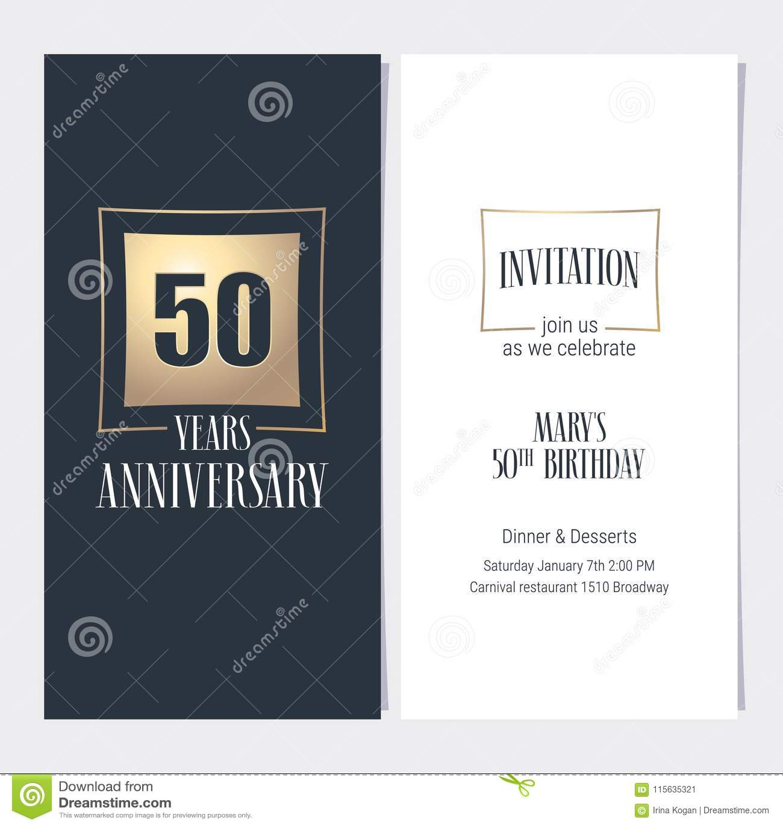 50 years anniversary invitation vector stock vector illustration download 50 years anniversary invitation vector stock vector illustration of element banner 115635321 stopboris Image collections