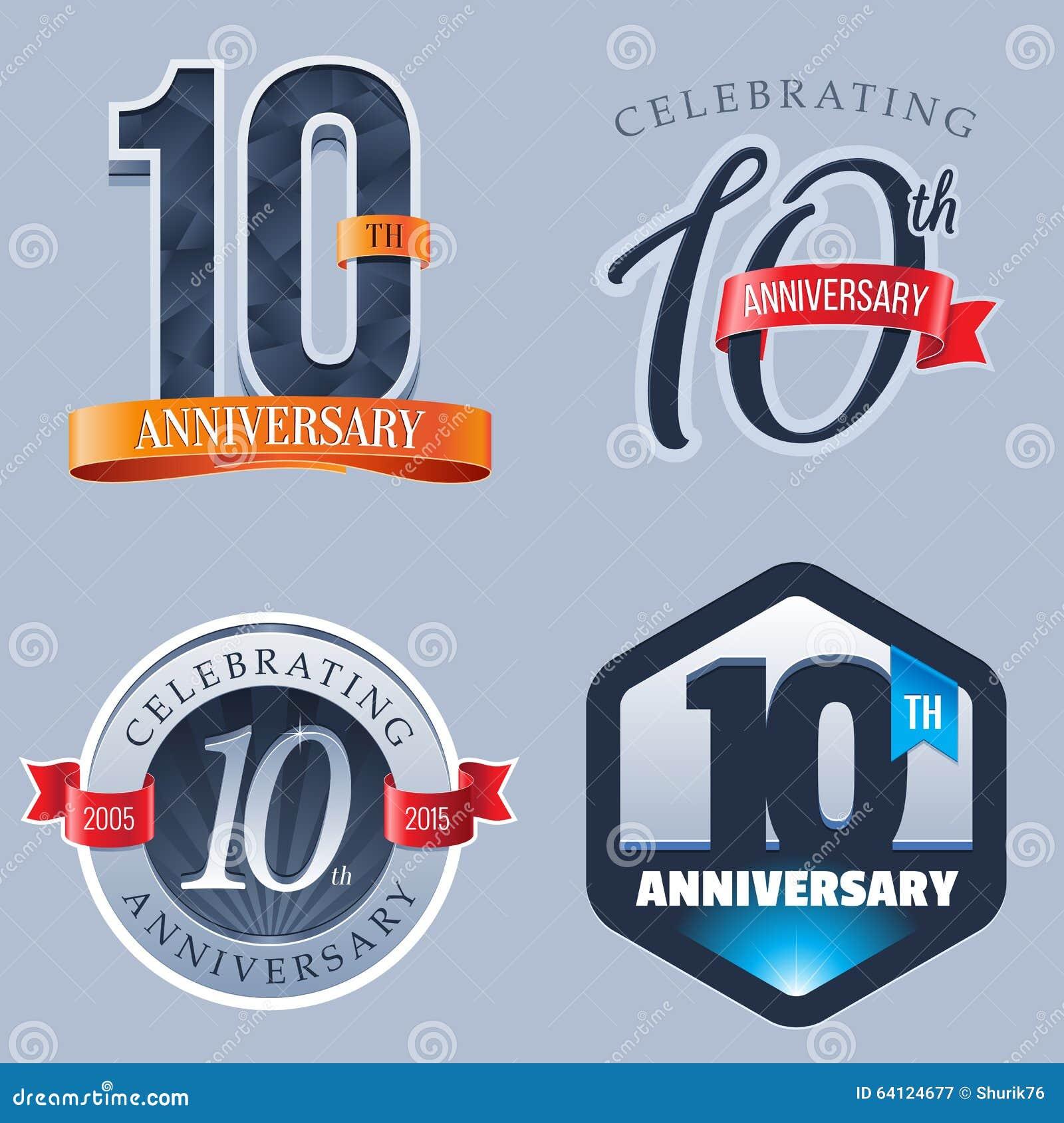 10 Years Anniversary Logo Stock Vector Illustration Of Symbol