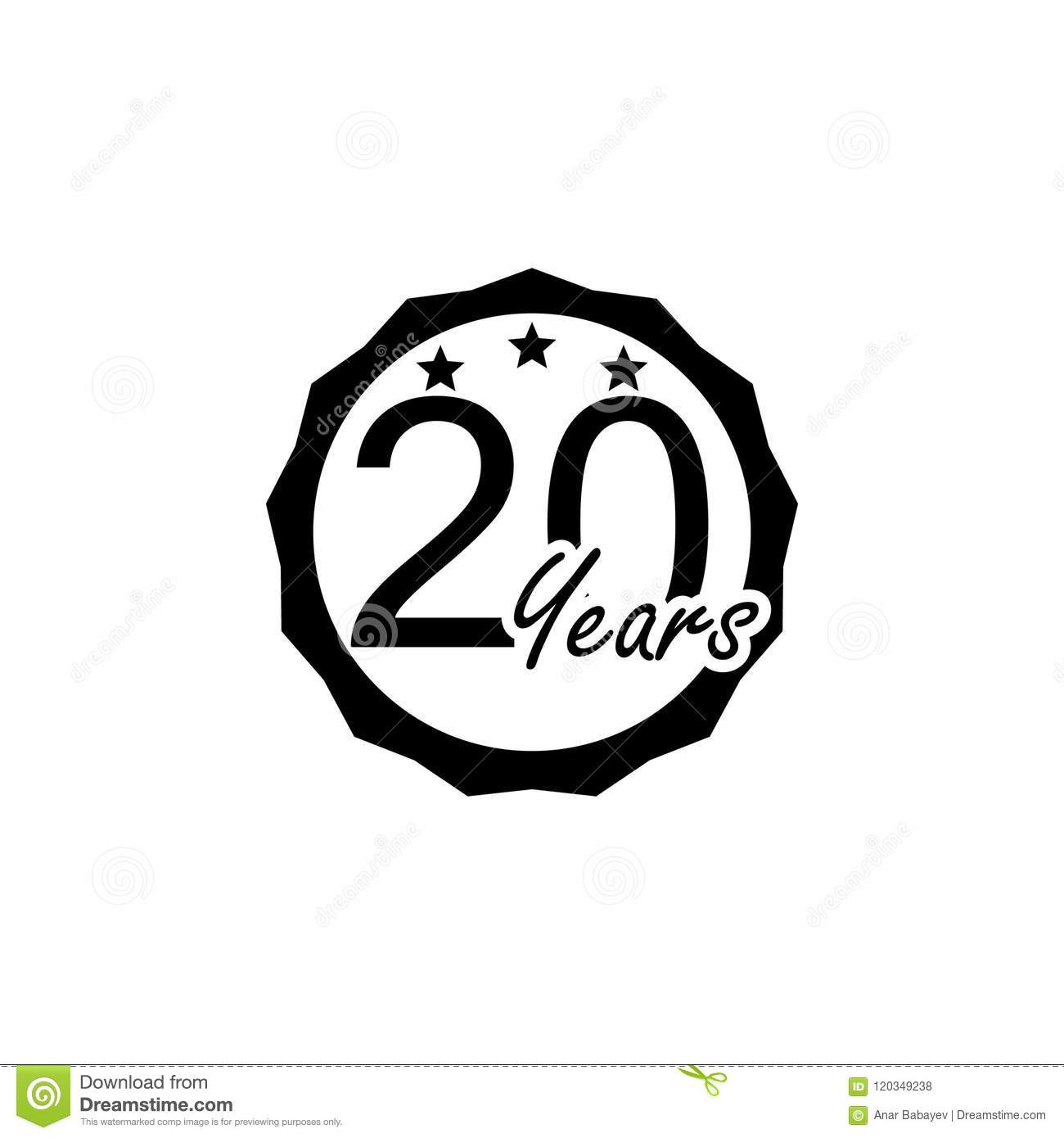 20 Years Anniversary Sign Element Of Anniversary Sign Premium
