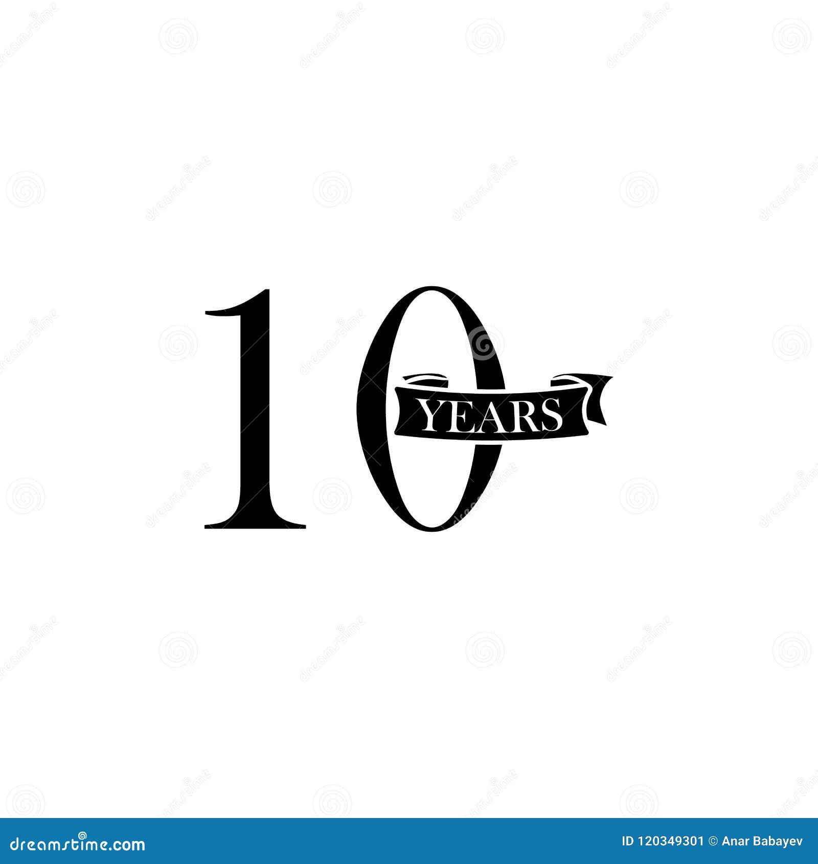 10 Years Anniversary Sign Element Of Anniversary Sign Premium
