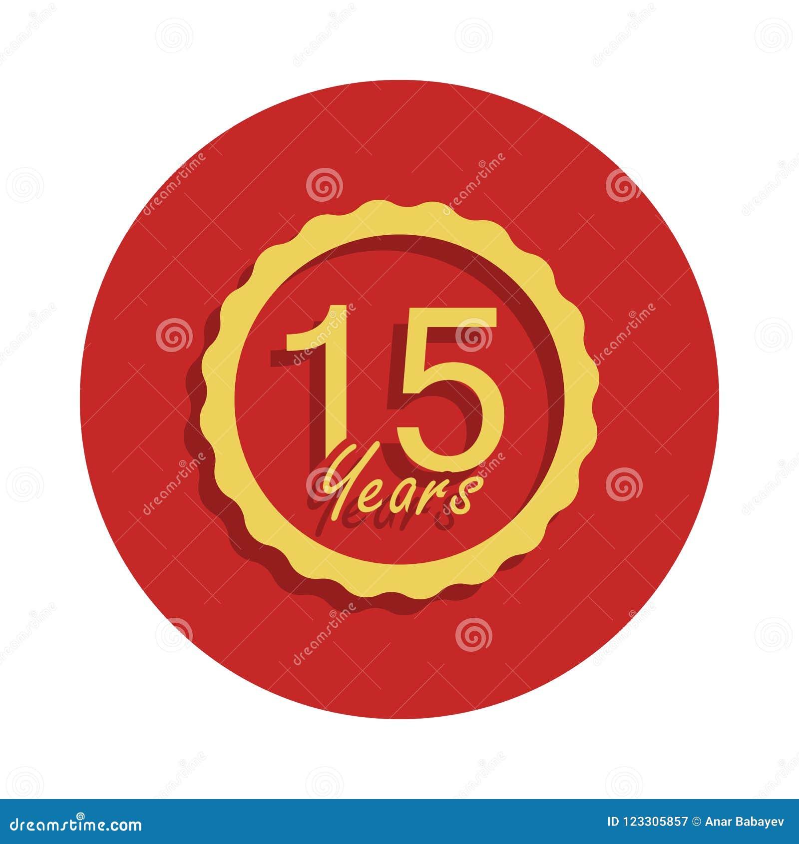 15 Years Anniversary Sign Element Of Anniversary Sign Premium