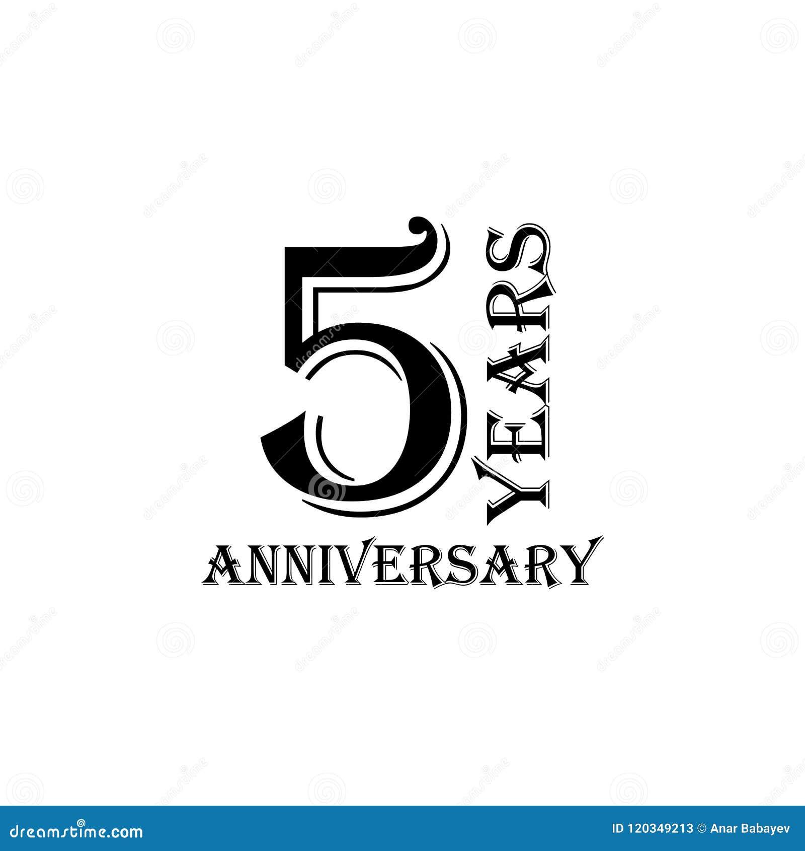 5 Years Anniversary Sign Element Of Anniversary Sign Premium