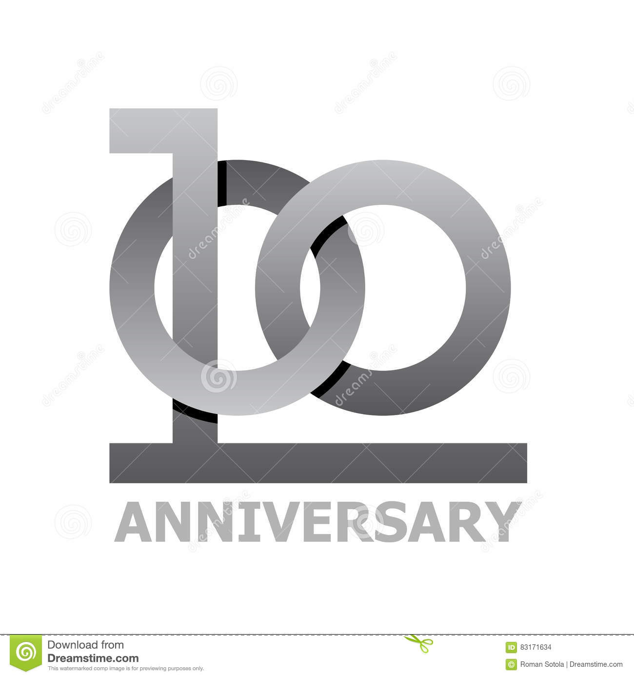 100 years anniversary symbol stock vector illustration of 100 years anniversary symbol buycottarizona Image collections