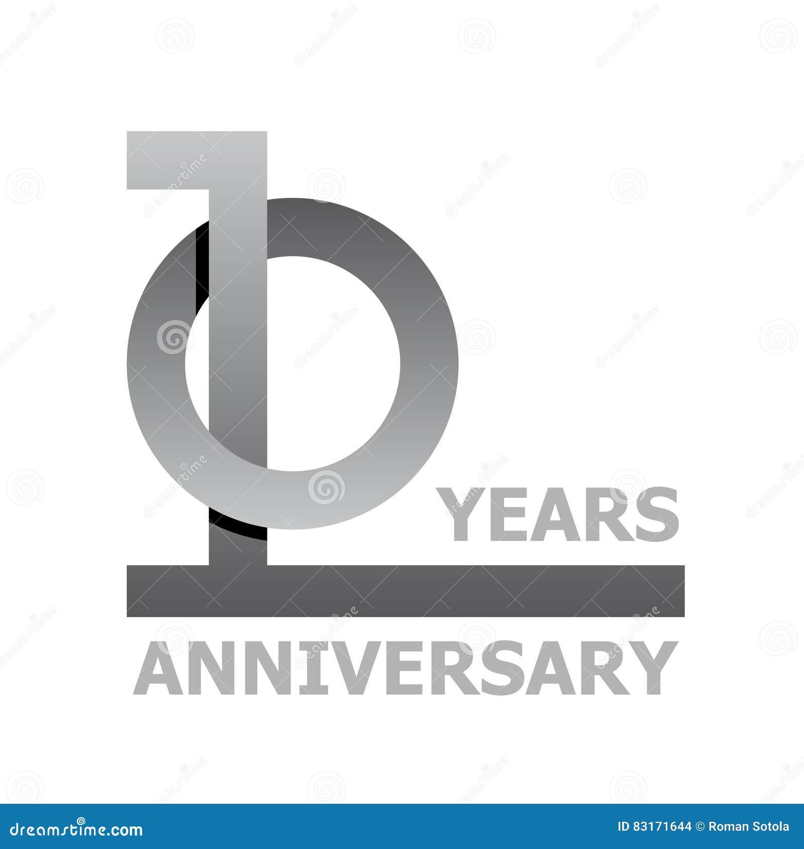 10 Years Anniversary Symbol Stock Vector Illustration Of Modern