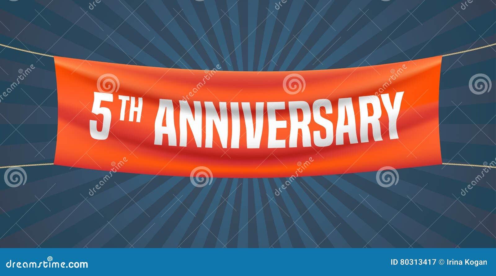 5 years anniversary vector illustration banner flyer stock 5 years anniversary vector illustration banner flyer biocorpaavc Gallery