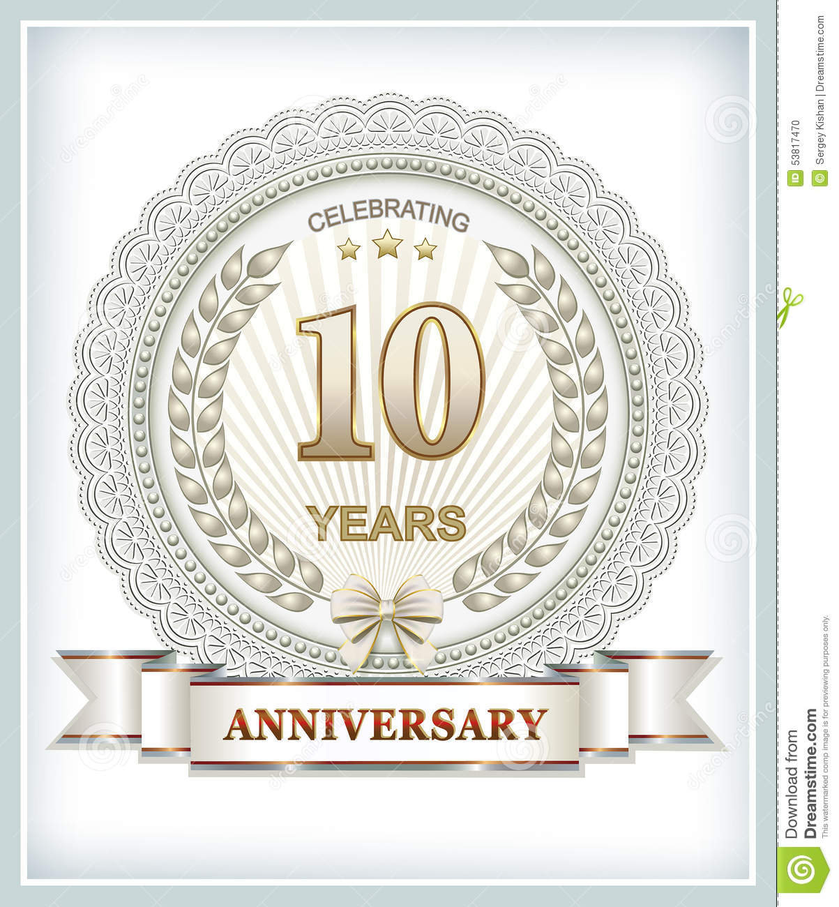 10 Years Anniversary Stock Vector Illustration Of Labels 53817470