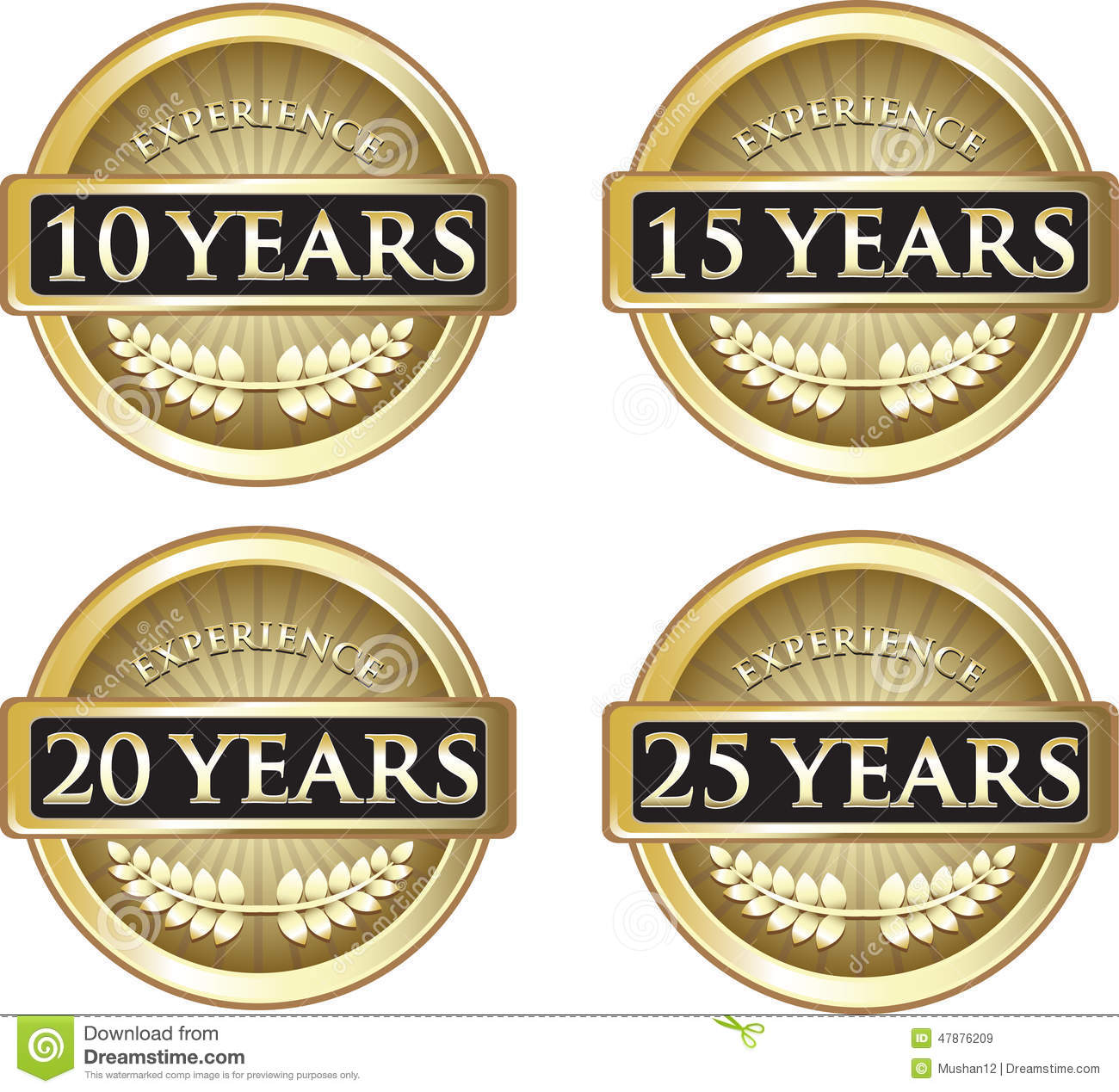 years of experience stock vector  illustration of emblem