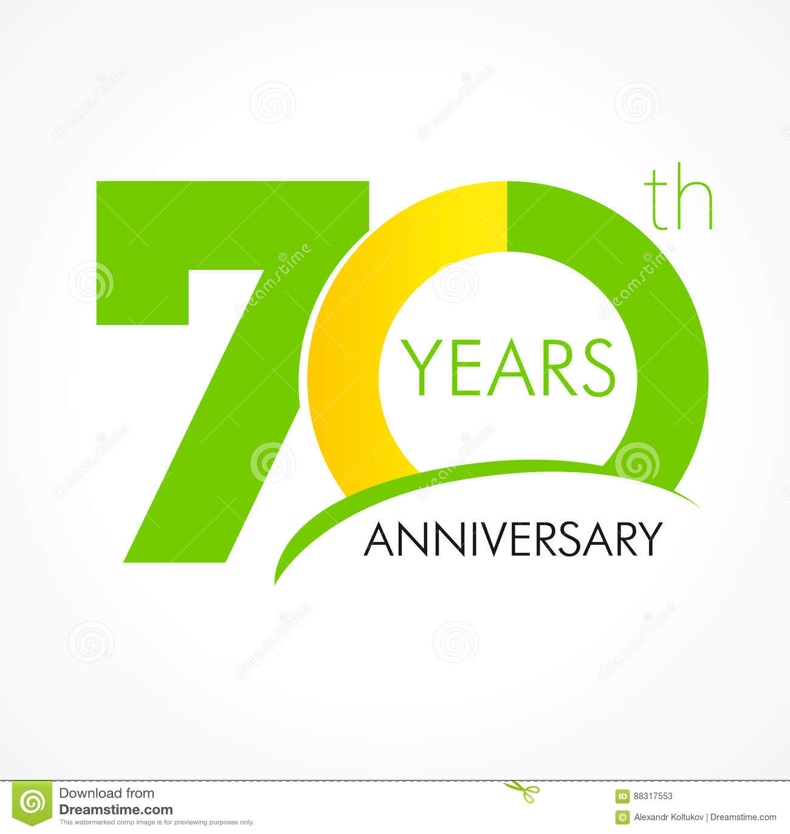 70 Years Old Celebrating Classic Logo