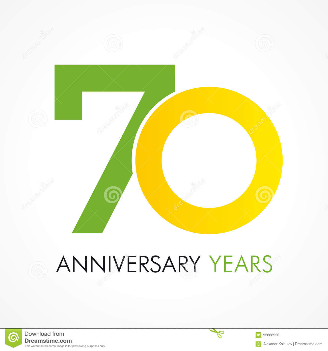 70 Years Old Celebrating Classic Logo