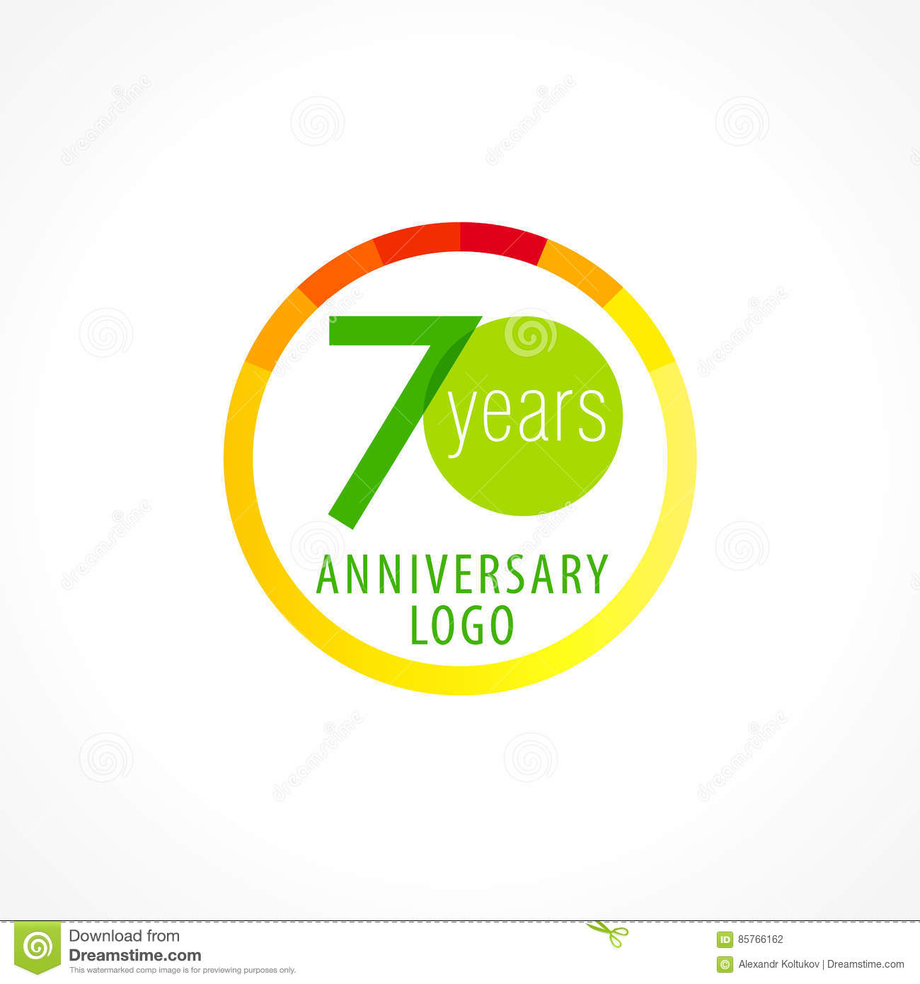 70 Years Old Circle Logo Stock Vector Illustration Of Background