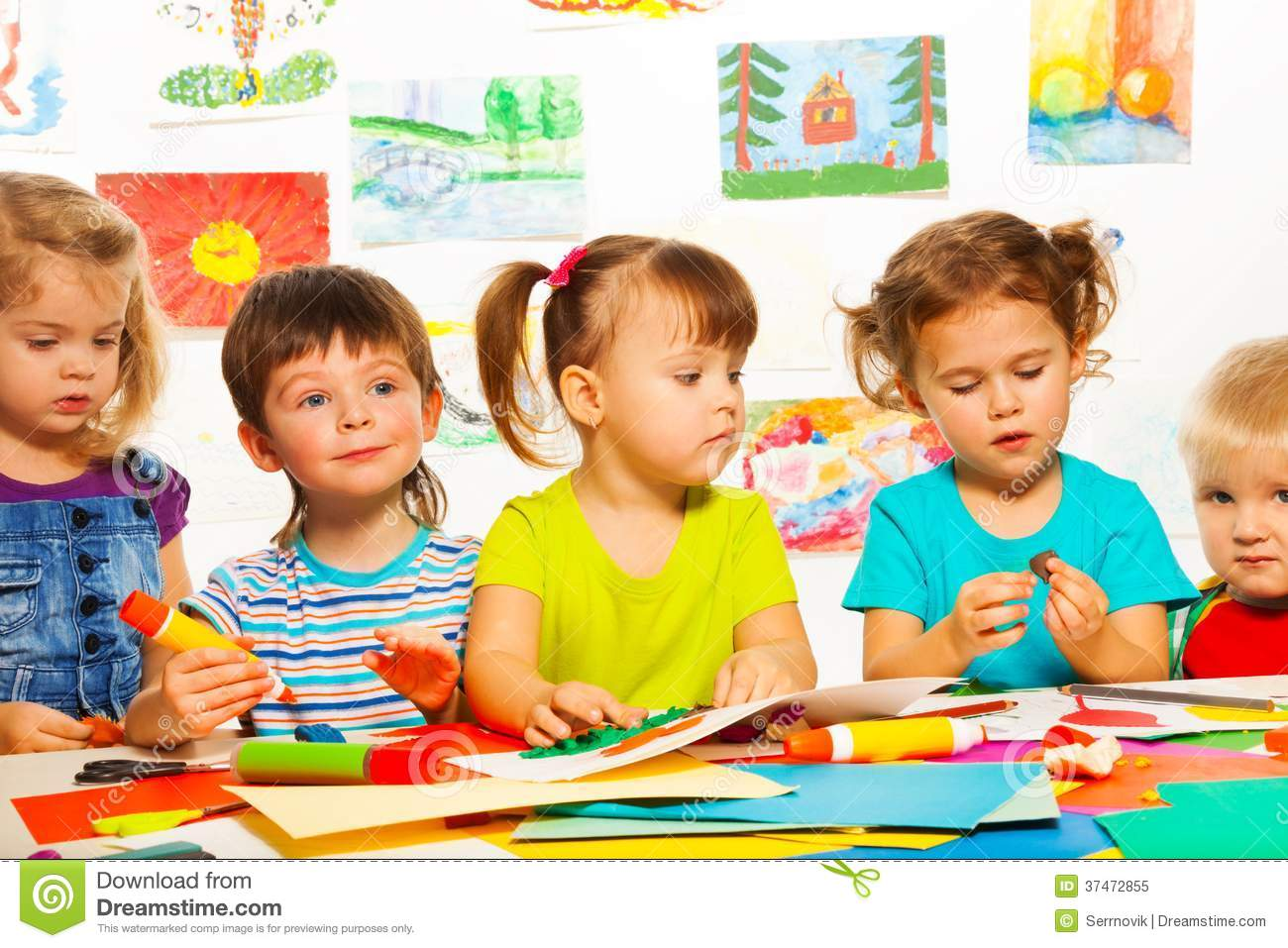 3 Years Old Creative Kids Stock Image. Image Of