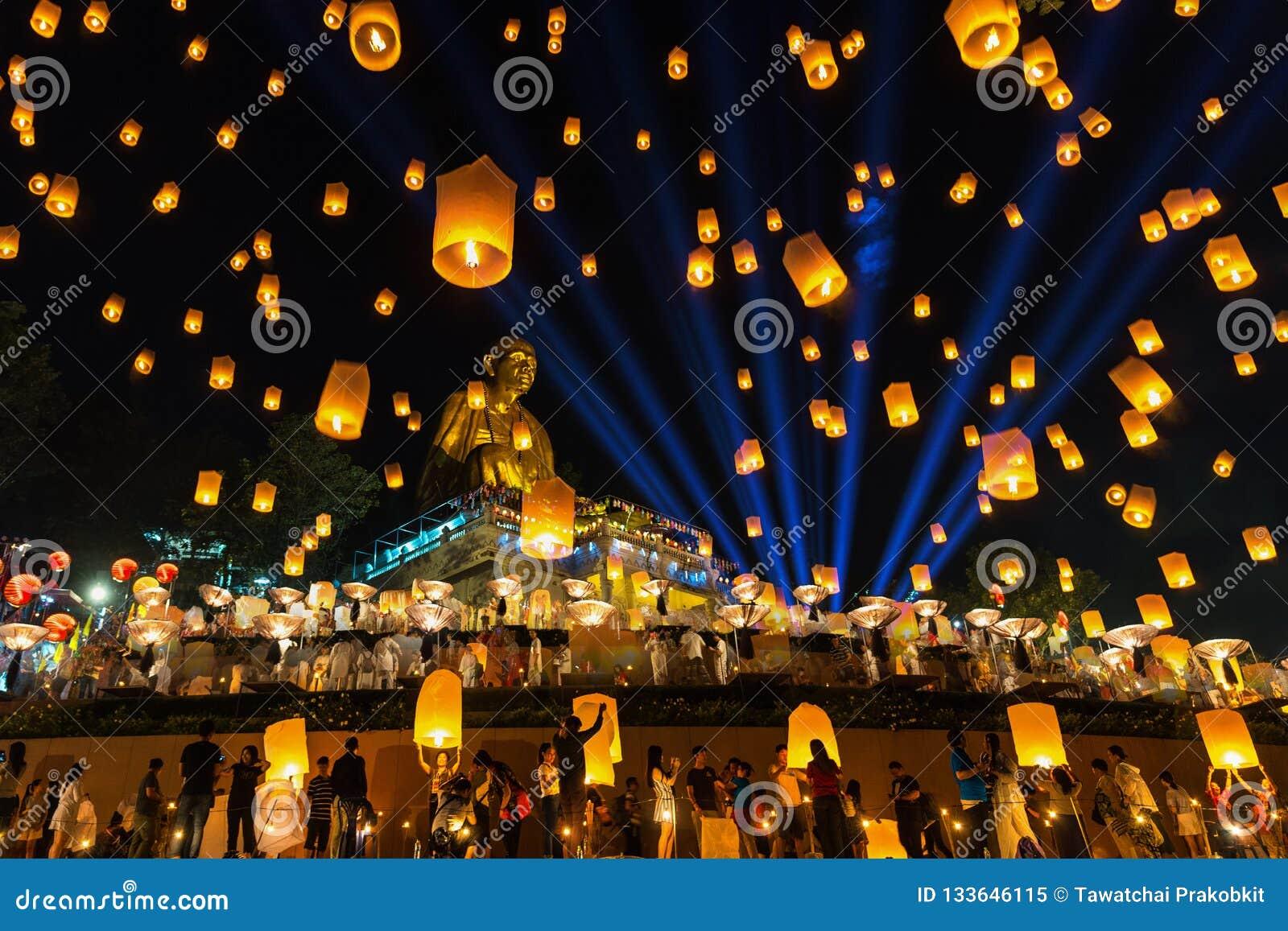 Yee Peng Festival Loy Krathong Celebration And Floating