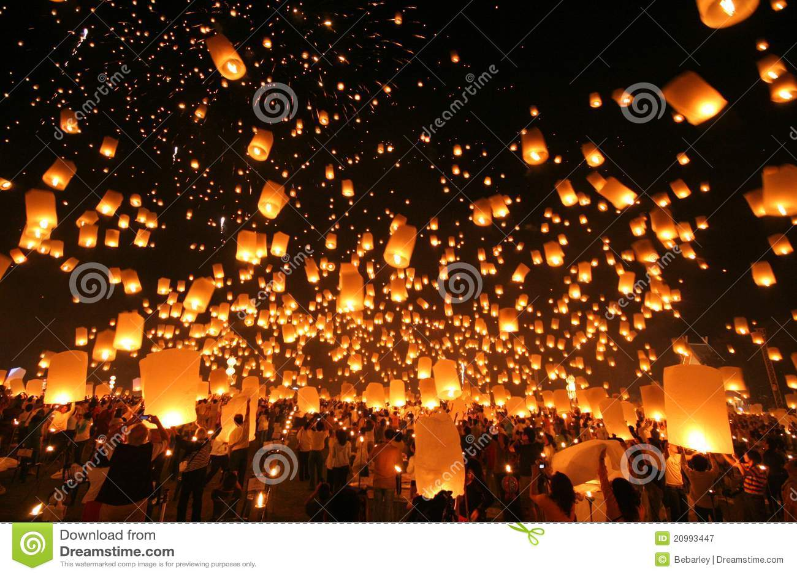 Yeepeng traditionnel la nuit