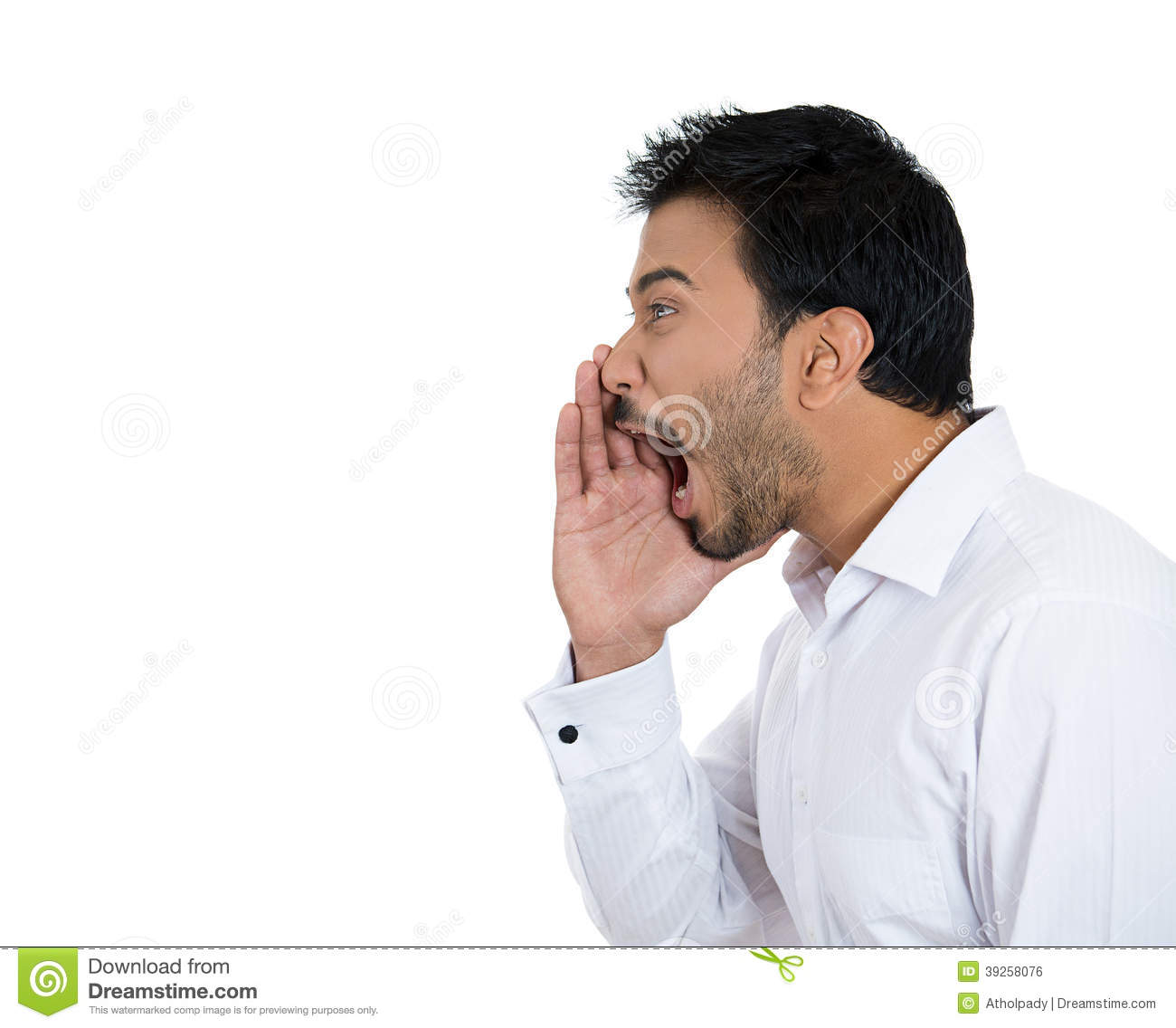 Yelling Man Stock Photo - Image: 39258076