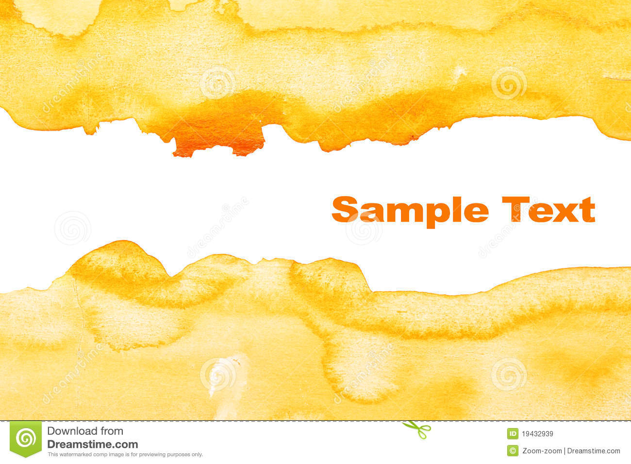 Yellow abstract watercolor background royalty free stock images