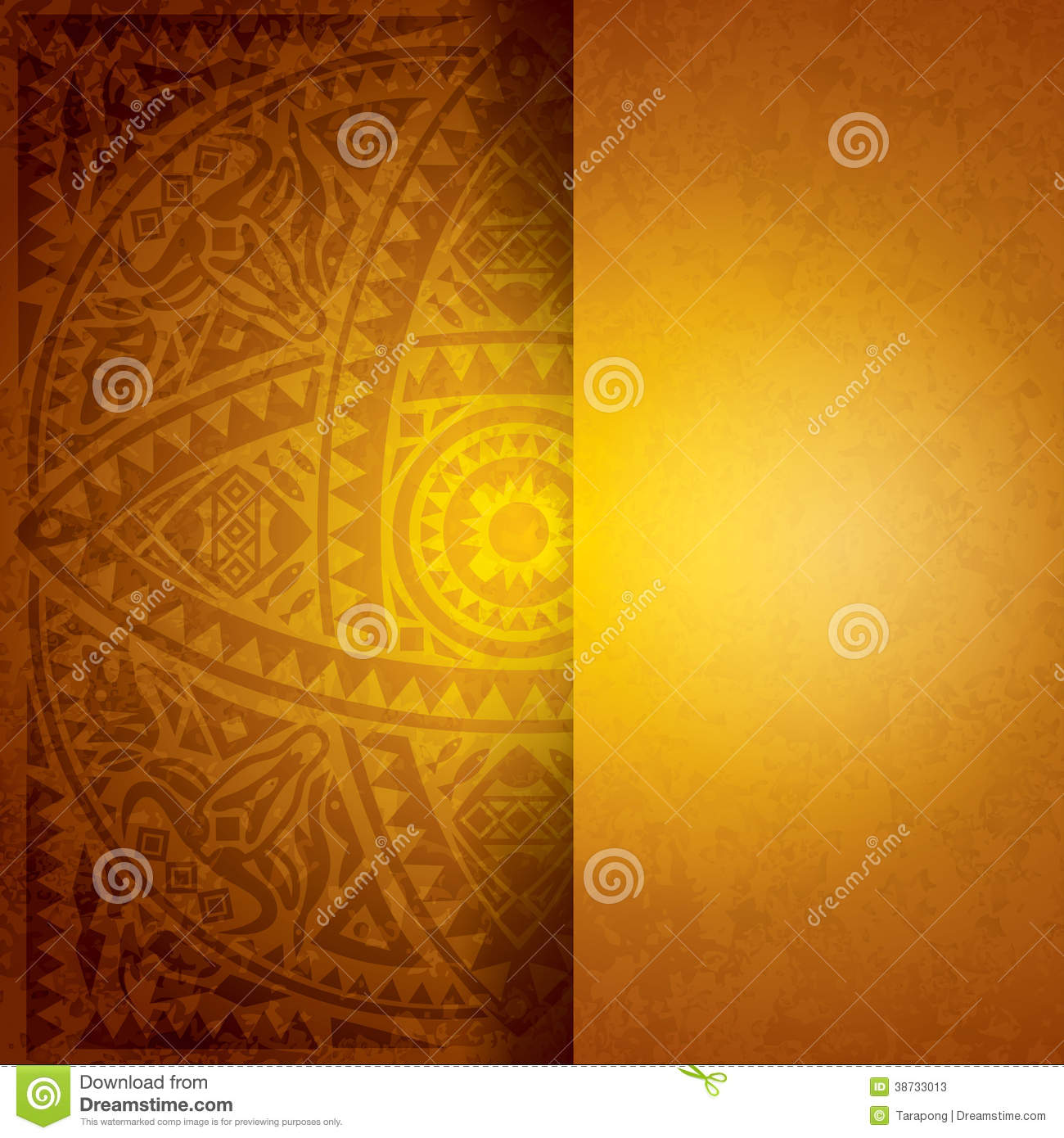 Book Cover Design Sites : Yellow african background design stock vector