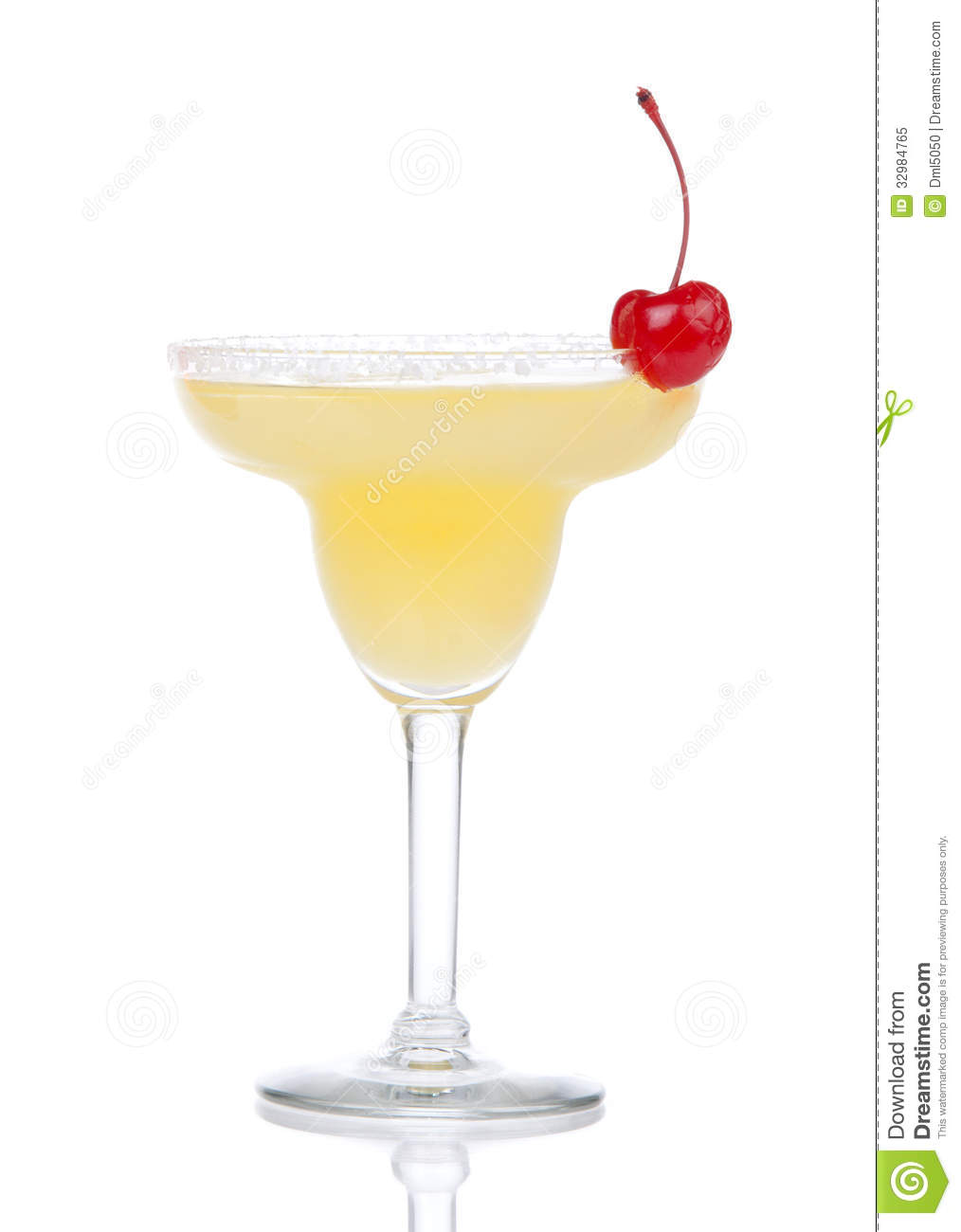 Yellow Alcohol Margarita Or Martini Cocktail Isolated ...