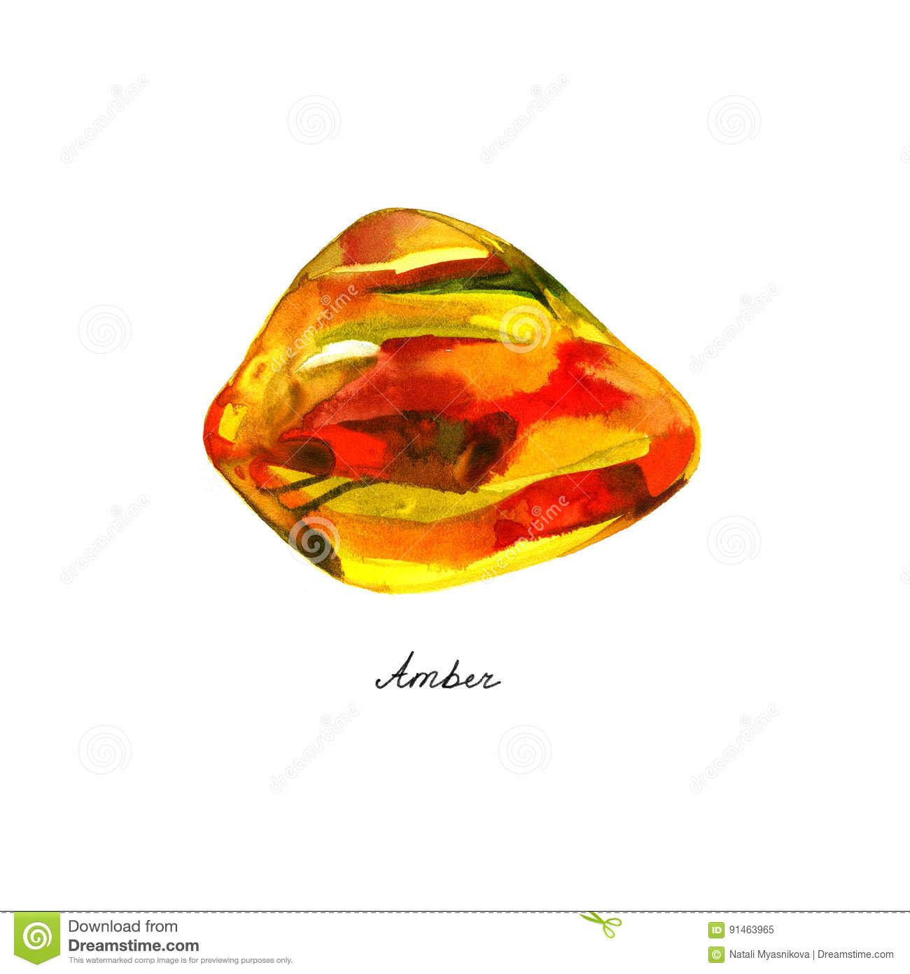 watercolor Amber Preserved