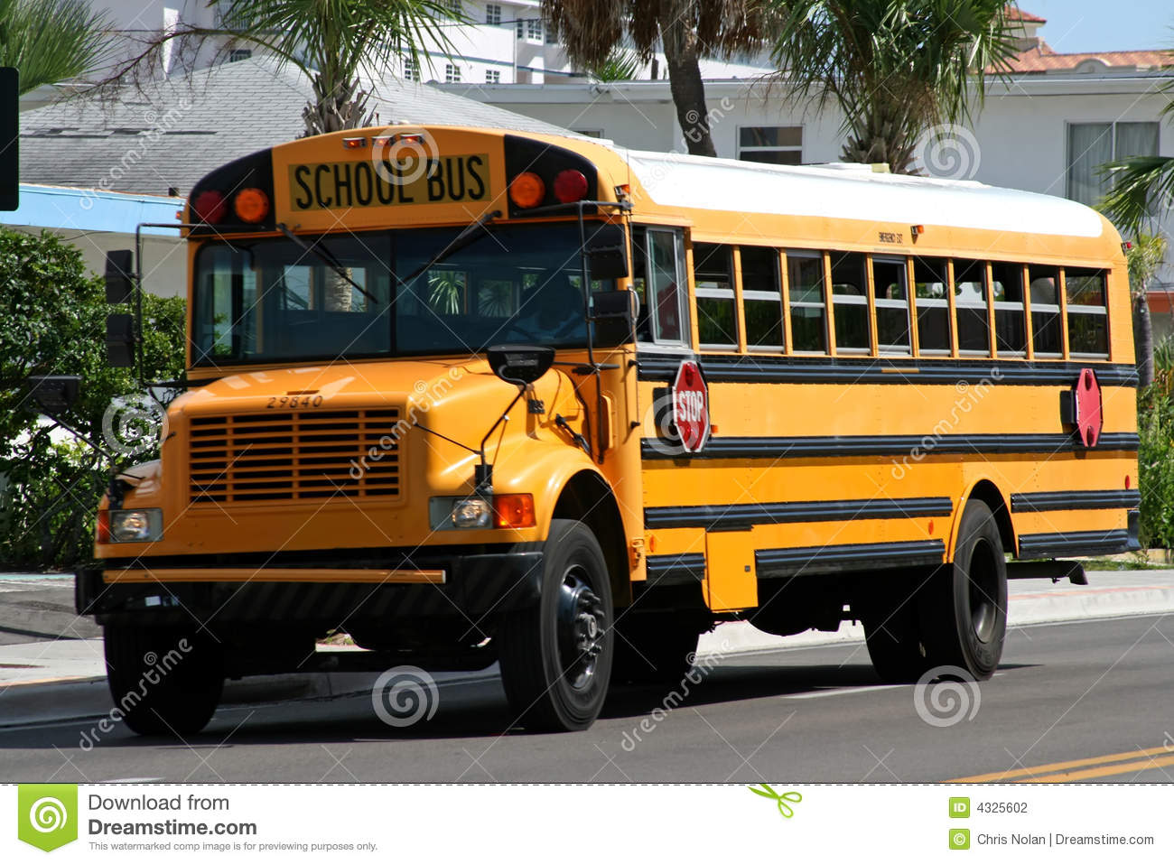 Yellow American School Bus Stock Photography - Image: 4325602