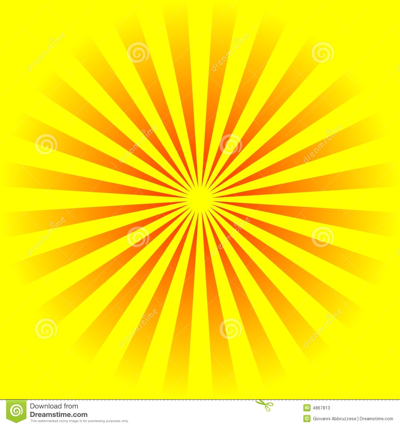 Yellow Background Stock Illustration. Illustration Of