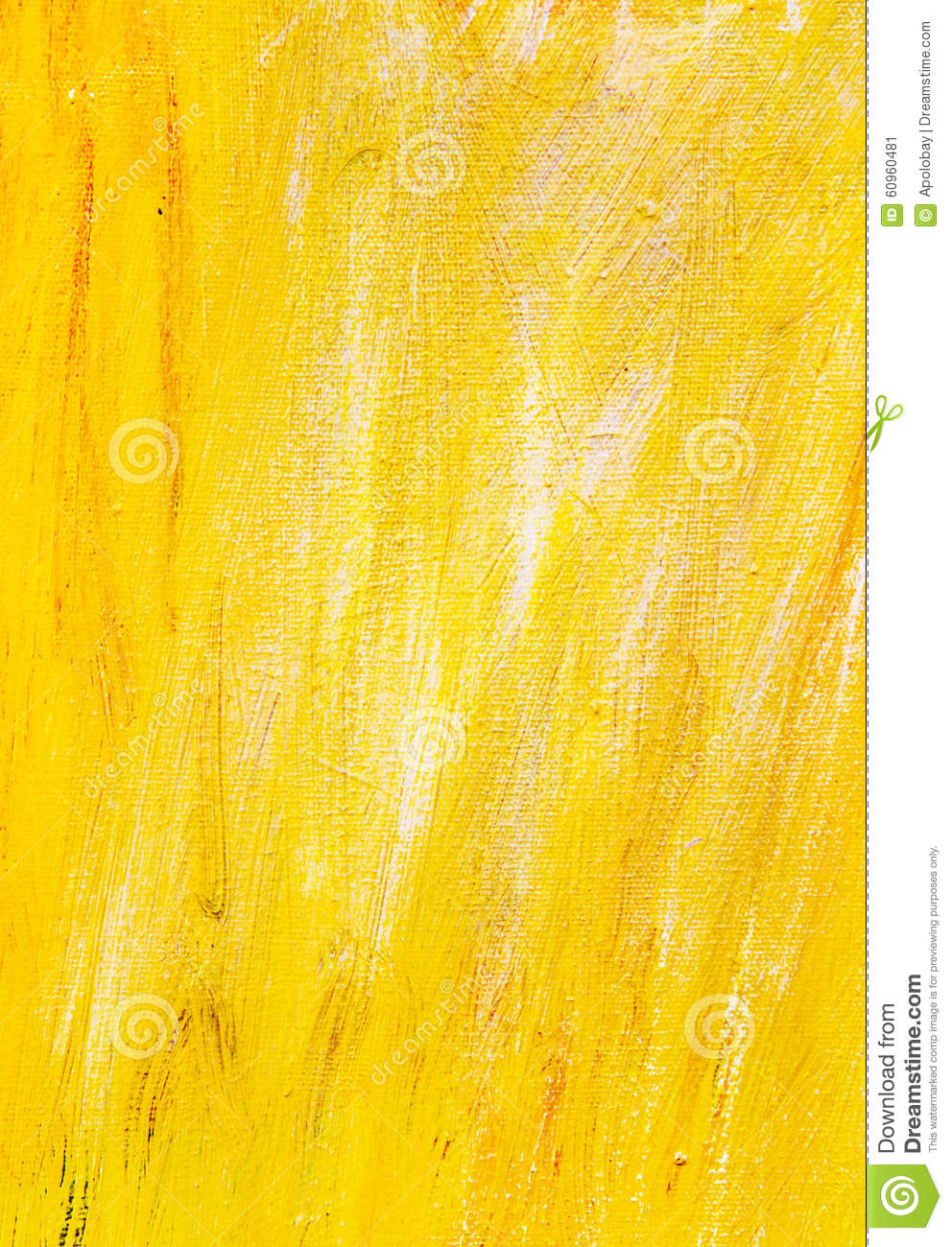 Yellow Paint Texture Background