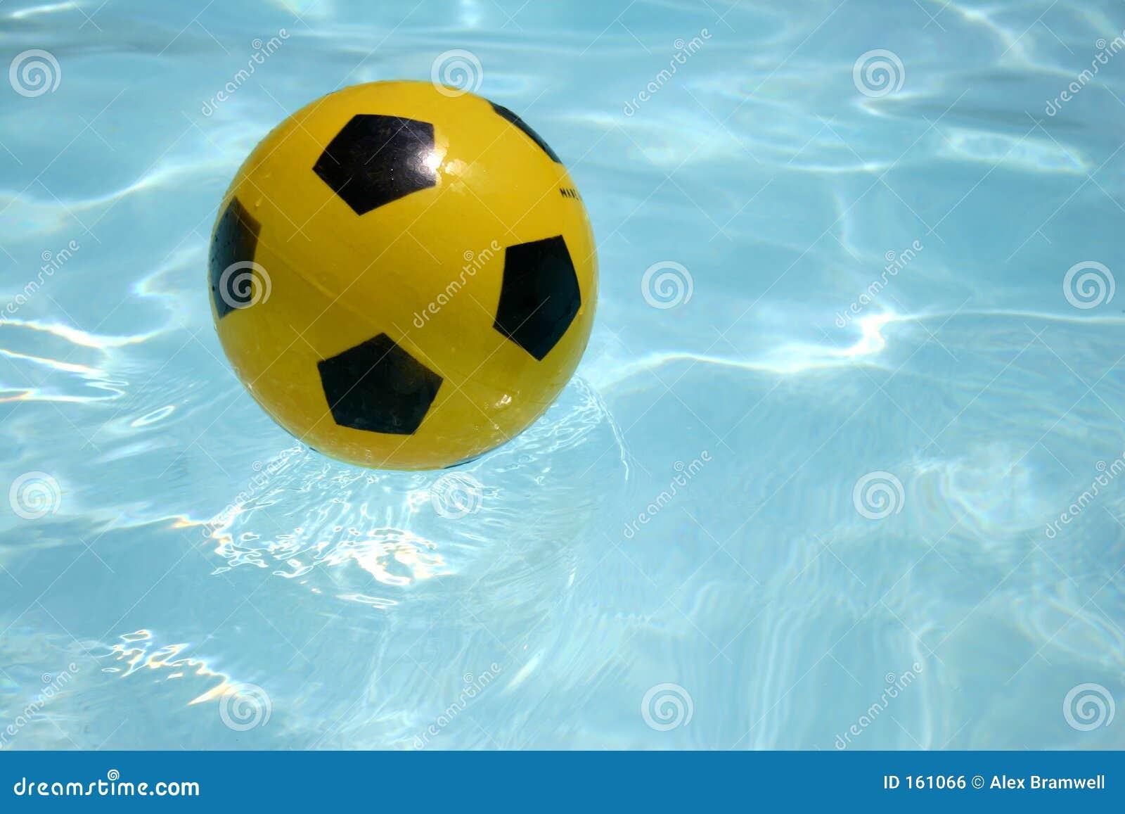 Yellow ball floating