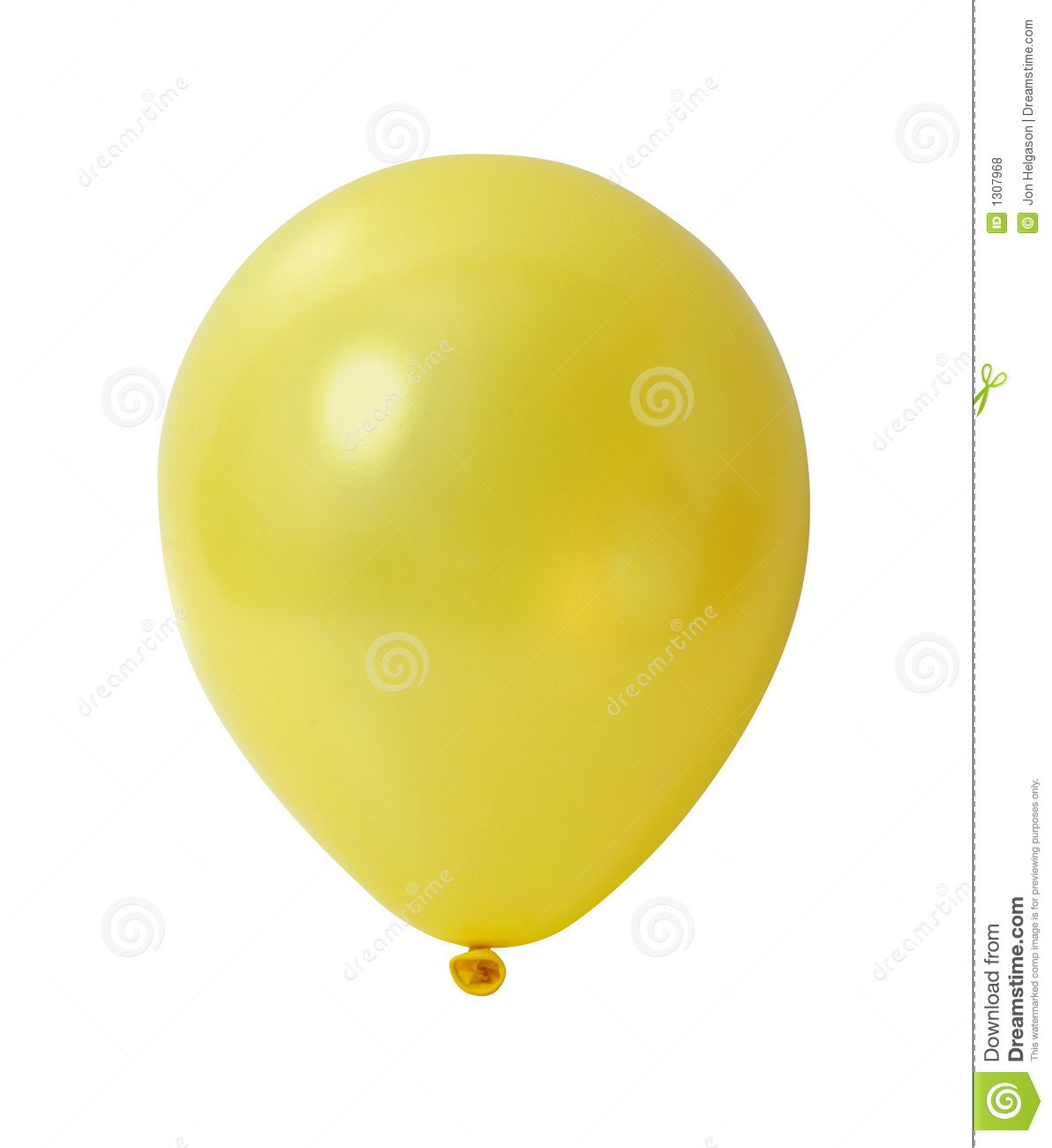 Yellow Balloon With Path Royalty Free Stock Photos Image
