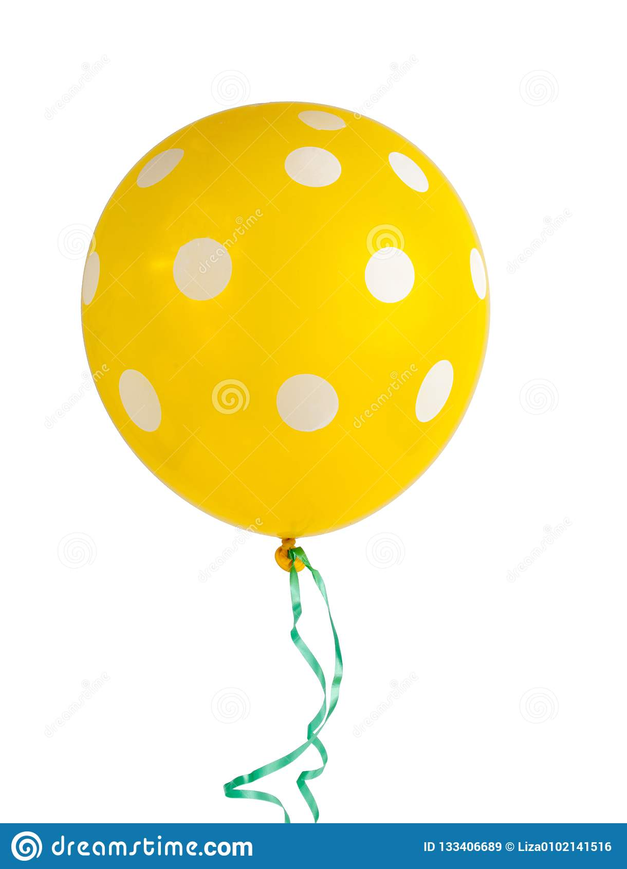 balloon with white dots isolated