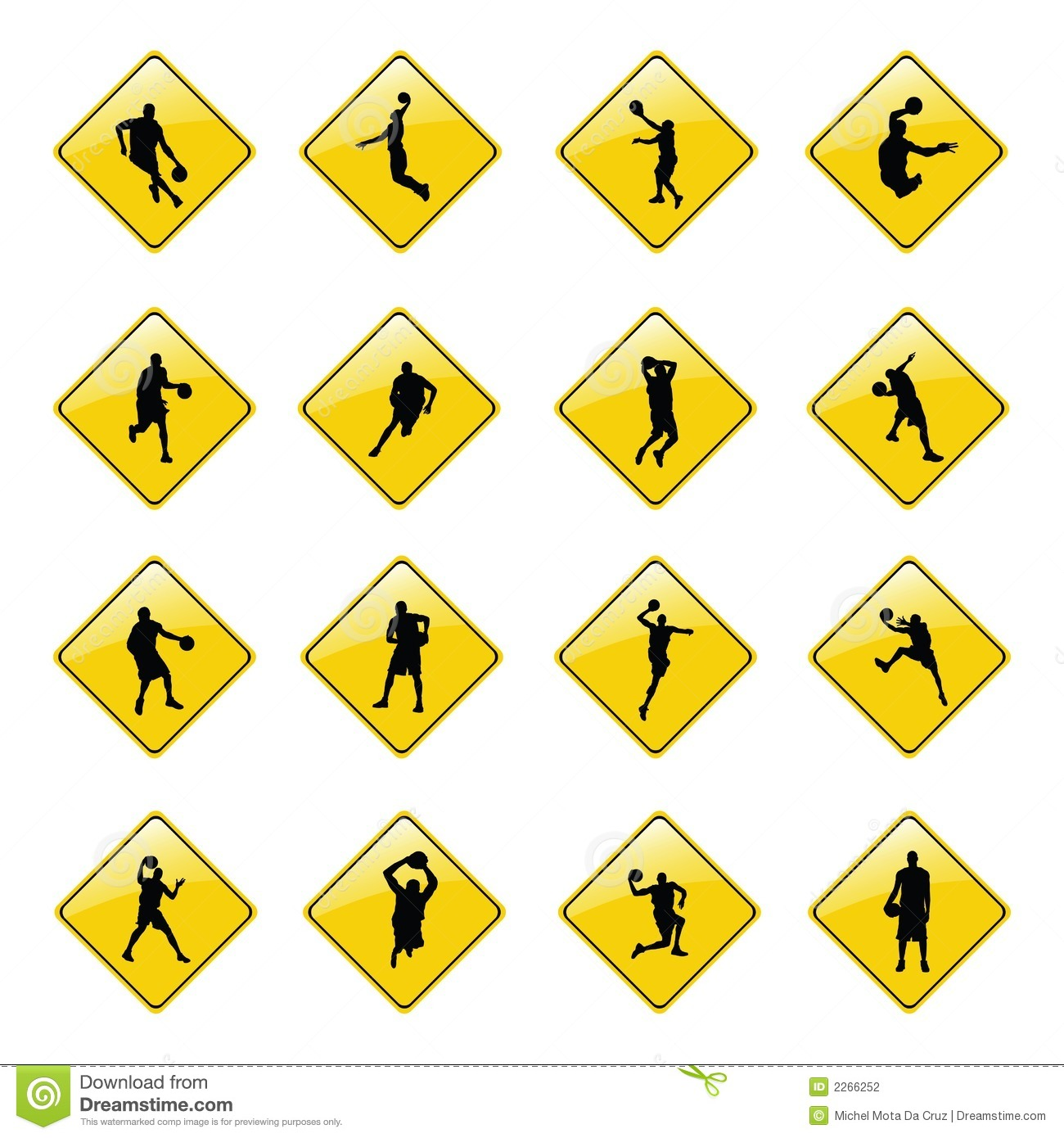 3d5dc438dbcfd Yellow Basketball Sign Icons Stock Vector - Illustration of road ...