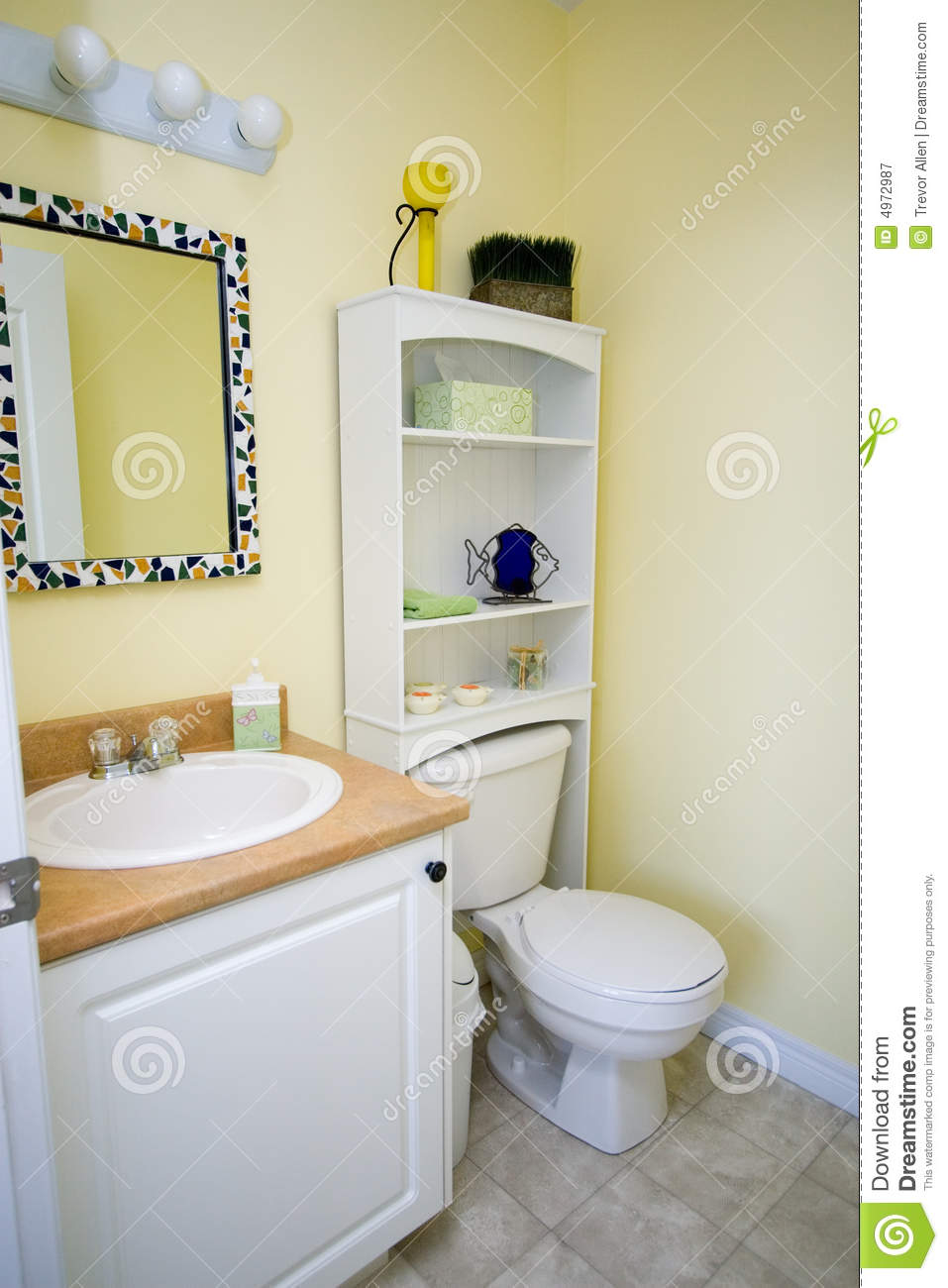 Yellow Bathroom Yellow Bathroom Royalty Free Stock Photography Image 4972987