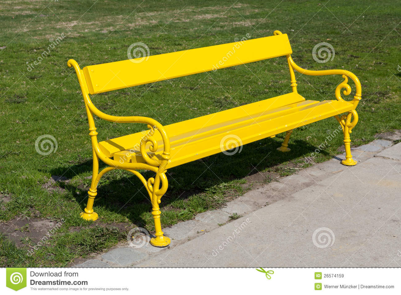 Yellow Bench Stock Image Image Of Nobody Plant Seat