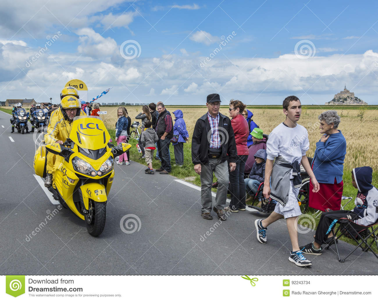 The Yellow Bike at the Start of Tour de France 2016