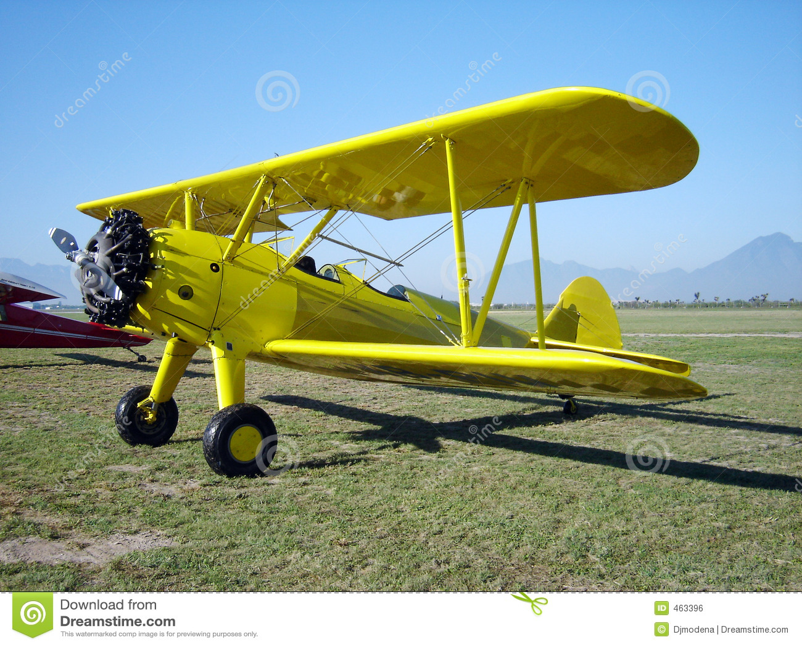 Yellow biplane Aircraft