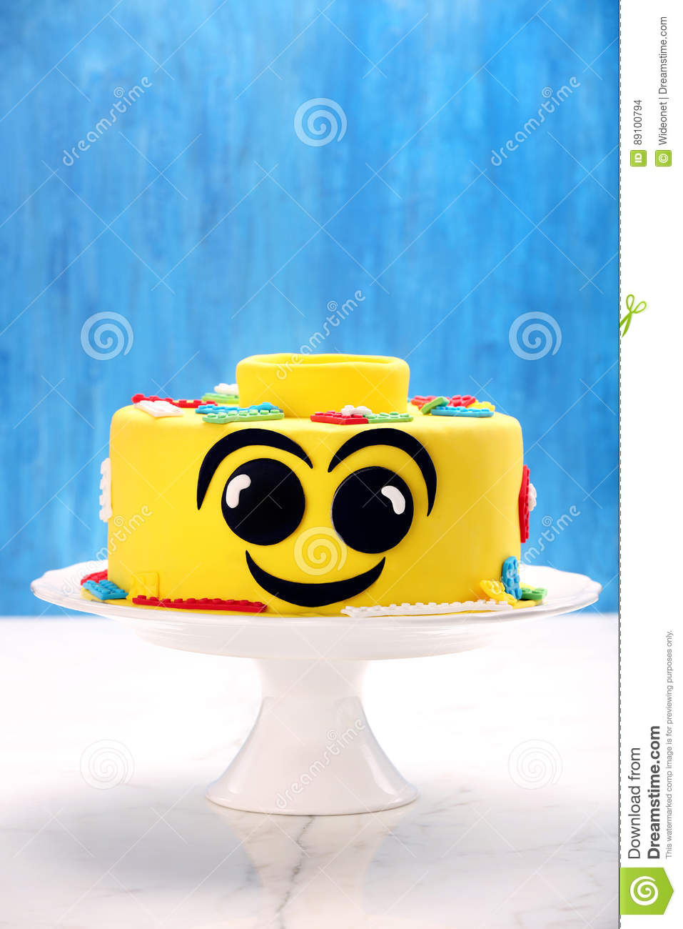 Pleasant Yellow Birthday Cake On A Stone Background Stock Photo Image Of Funny Birthday Cards Online Aeocydamsfinfo