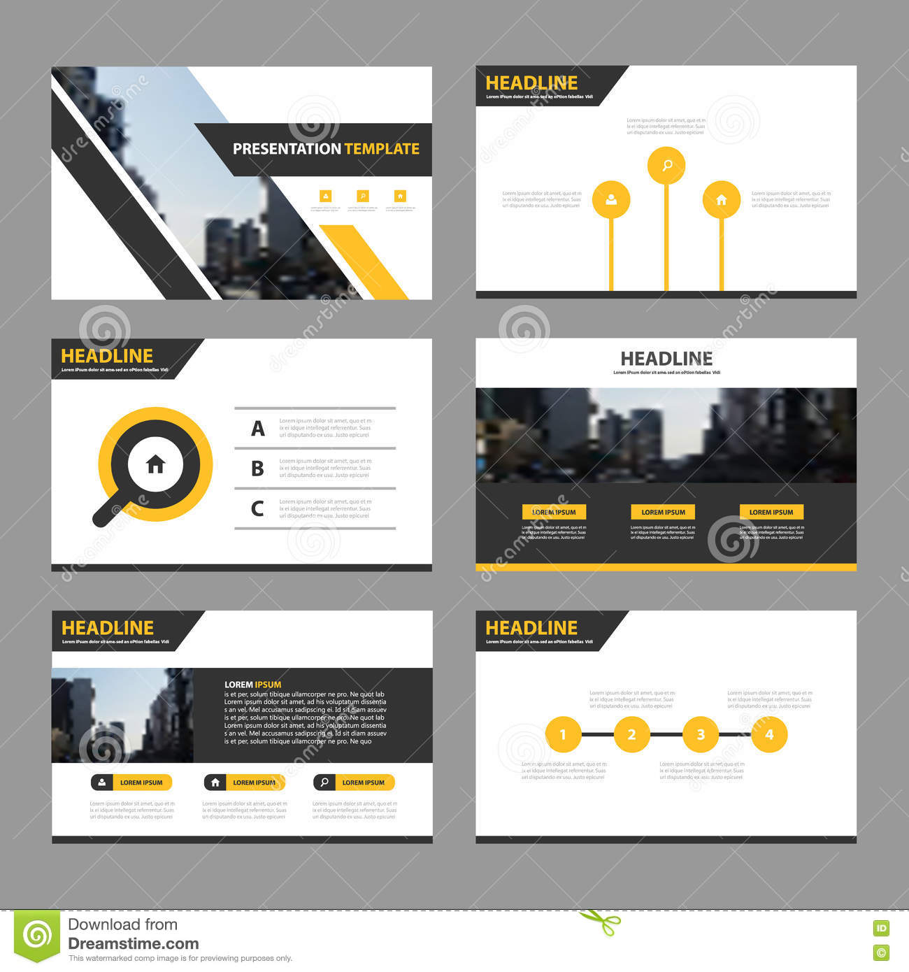 yellow black abstract presentation templates infographic elements template flat design set for annual report brochure flyer