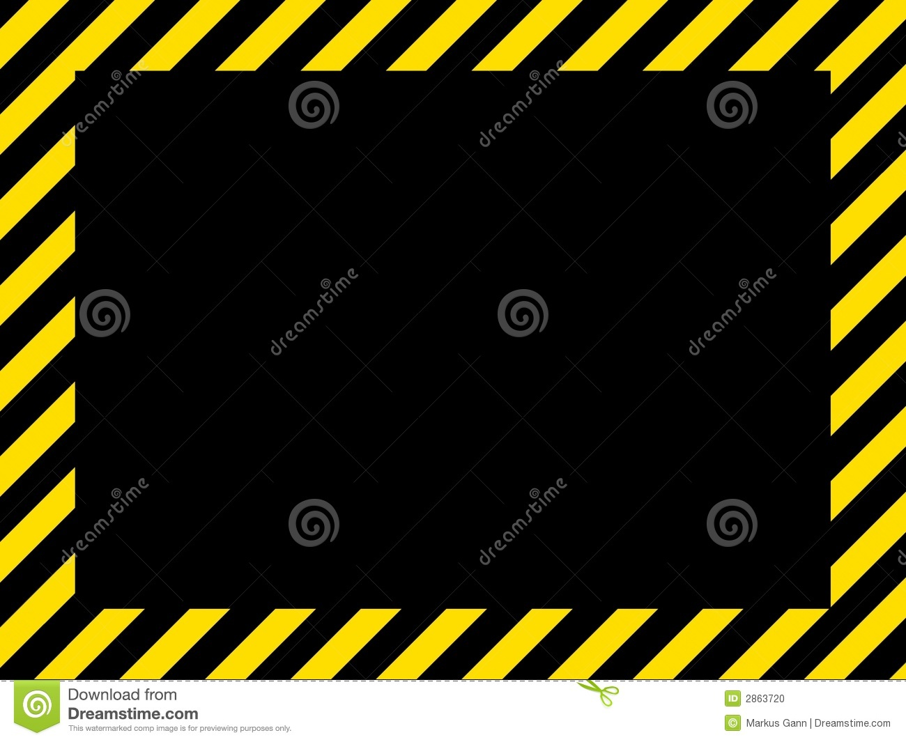Border frame with black and yellow stripe on white background - Black Border Frame Hand Stripes Illustration Danger Texture Made Background