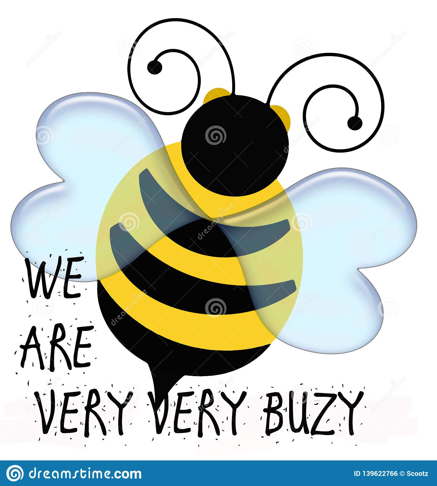 Yellow and black bumble bee illustration
