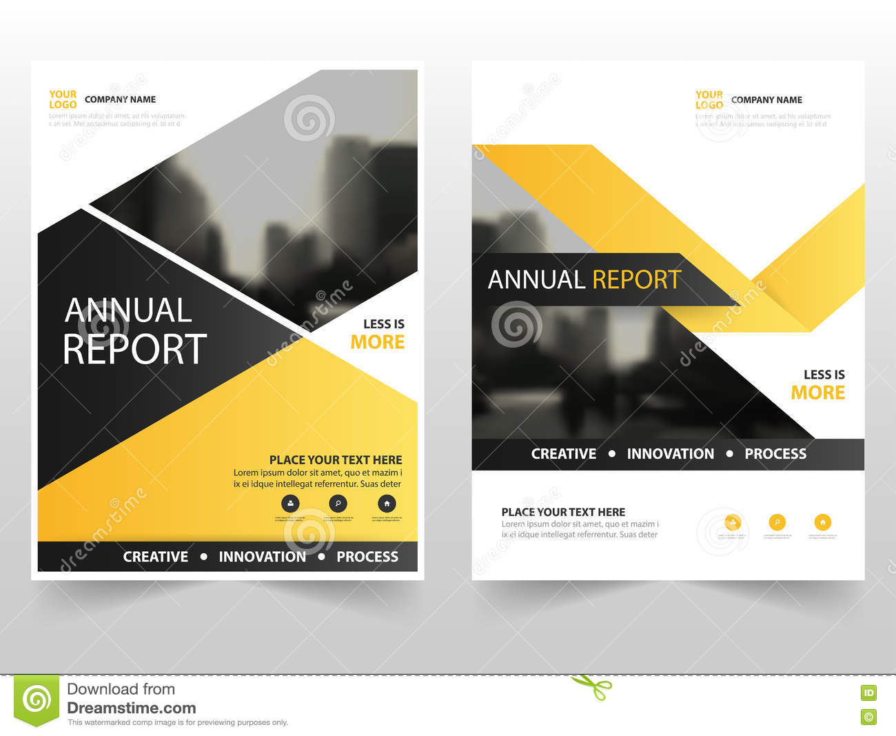 Yellow Black Business Brochure Leaflet Flyer Annual Report