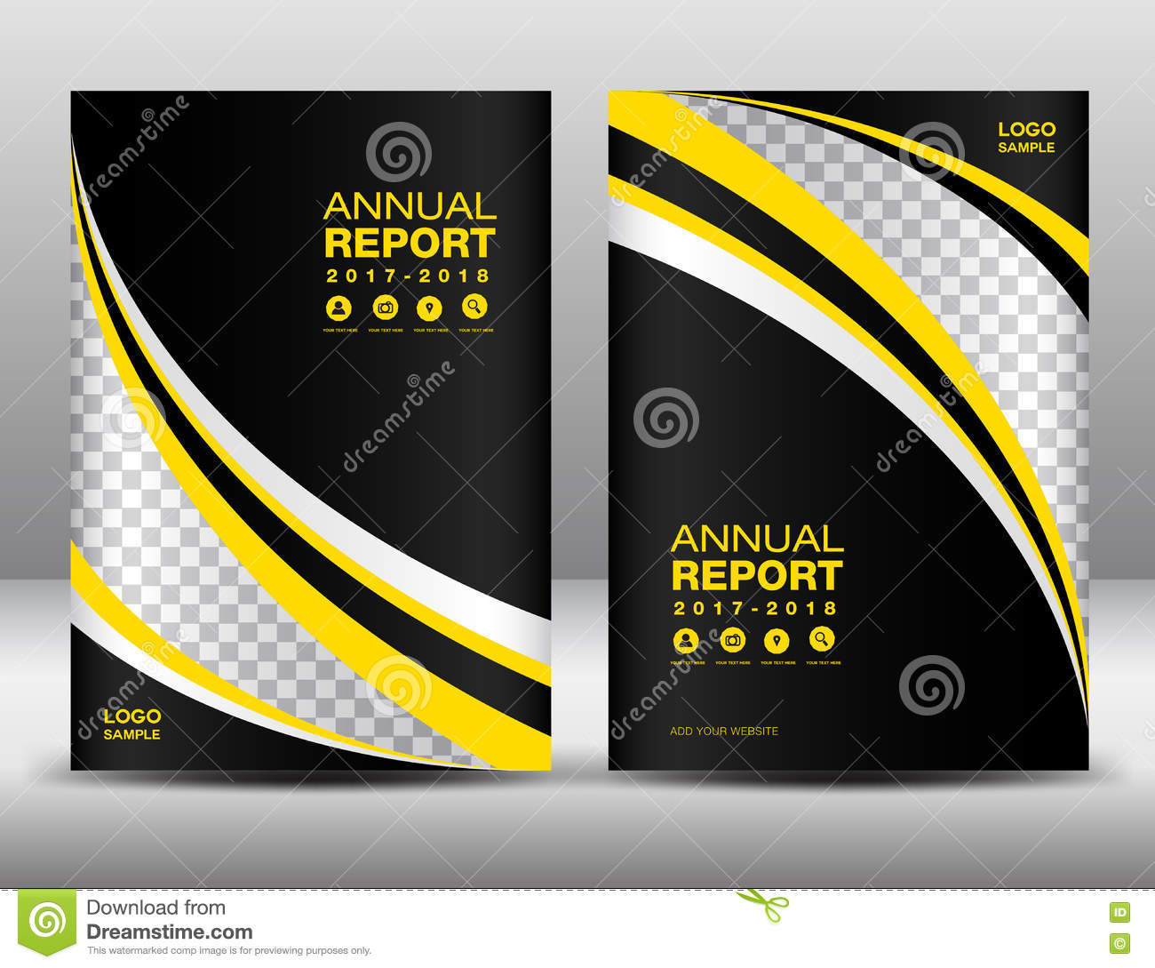 Yellow and black Cover template, cover annual report, cover design business brochure flyer, magazine covers, book cover